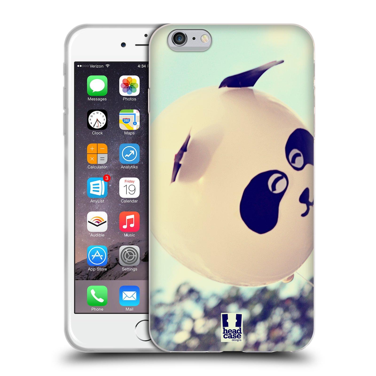 HEAD CASE silikonový obal na mobil Apple Iphone 6 PLUS/ 6S PLUS vzor Balónková zvířátka foto panda
