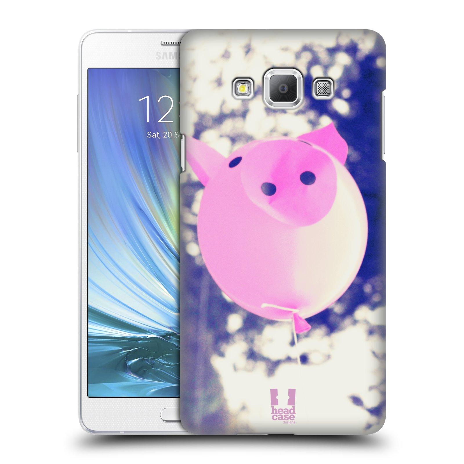 HEAD CASE plastový obal na mobil SAMSUNG GALAXY A7 vzor Balónková zvířátka foto prasátko