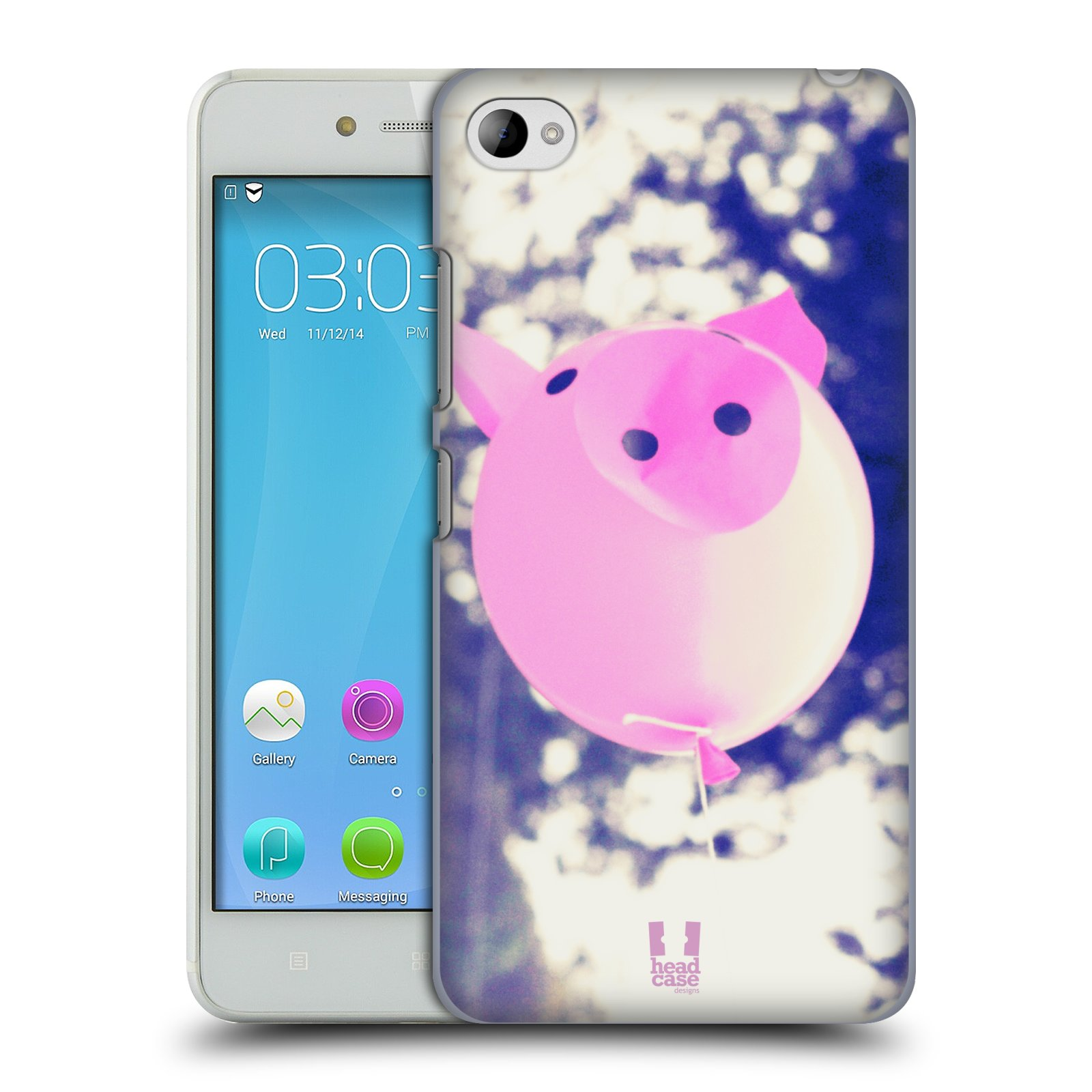 HEAD CASE pevný plastový obal na mobil LENOVO S90 vzor Balónková zvířátka foto prasátko