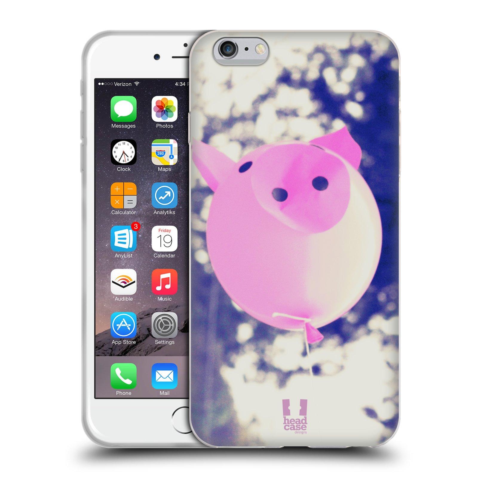 HEAD CASE silikonový obal na mobil Apple Iphone 6 PLUS/ 6S PLUS vzor Balónková zvířátka foto prasátko