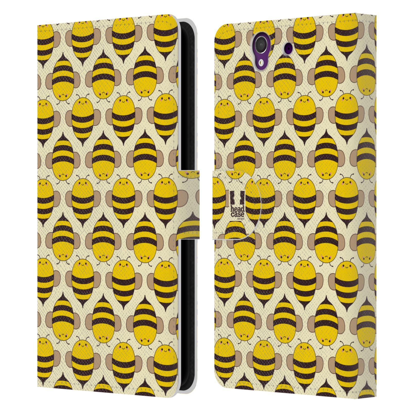 HEAD CASE Flipové pouzdro pro mobil SONY XPERIA Z (C6603) VČELÍ VZOR kolonie včelek