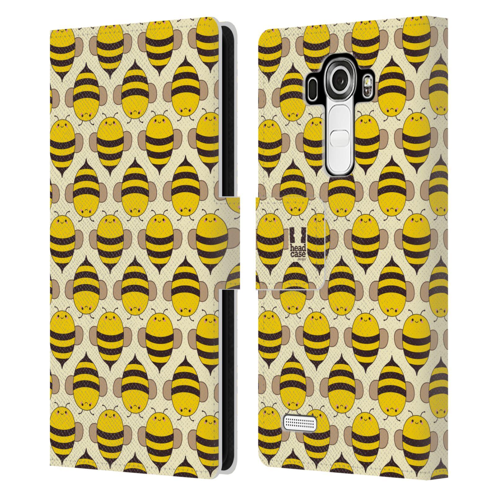 HEAD CASE Flipové pouzdro pro mobil LG G4 (H815) VČELÍ VZOR kolonie včelek