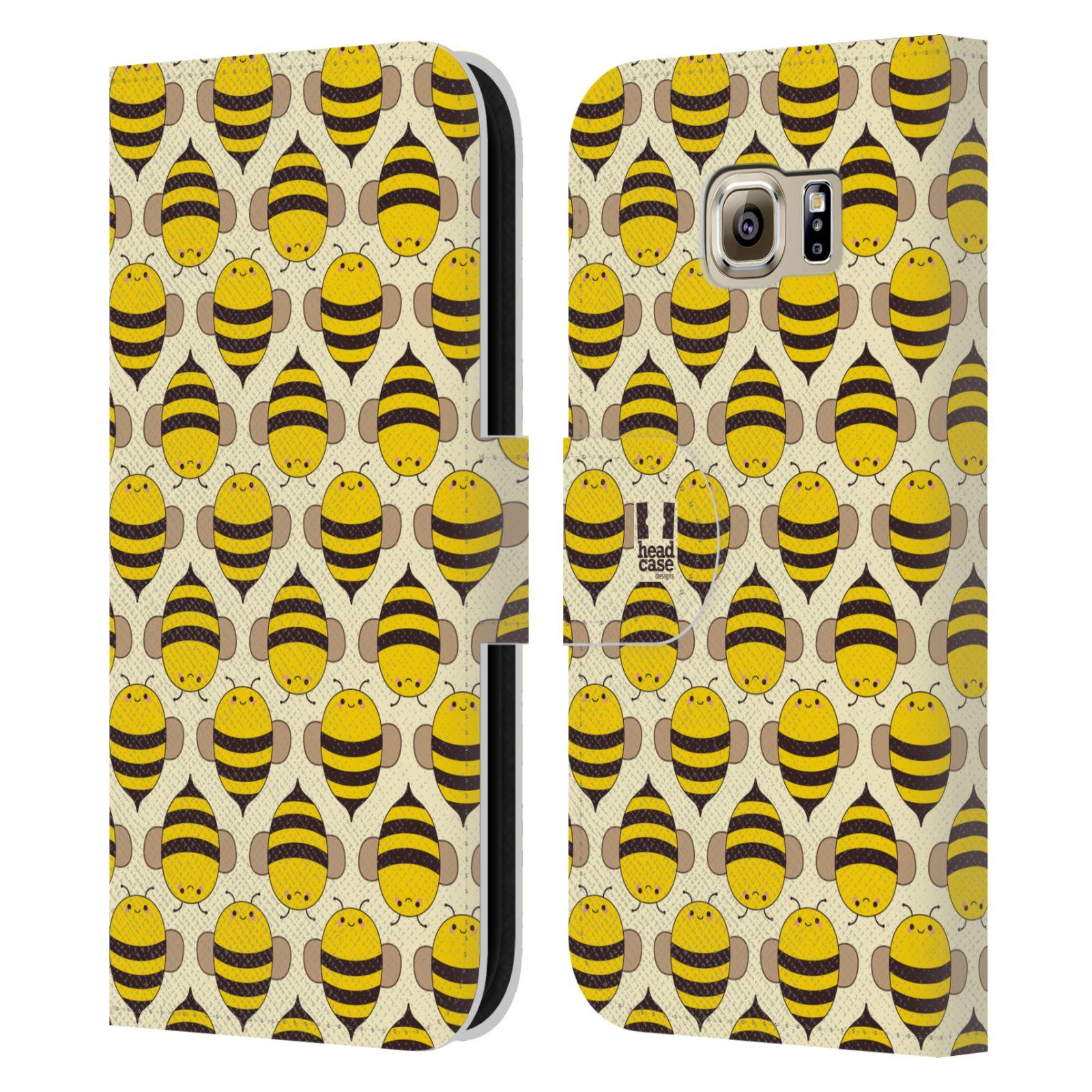 HEAD CASE Flipové pouzdro pro mobil Samsung Galaxy S6 (G9200) VČELÍ VZOR kolonie včelek