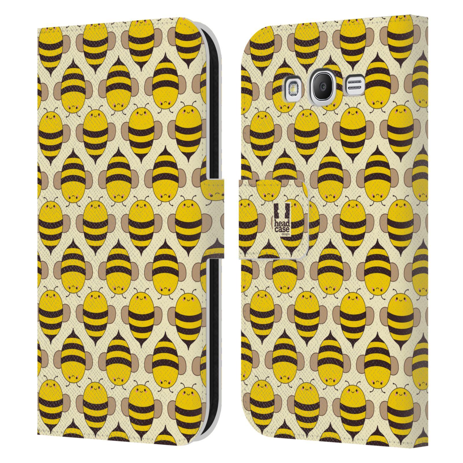 HEAD CASE Flipové pouzdro pro mobil Samsung Galaxy Grand i9080 VČELÍ VZOR kolonie včelek