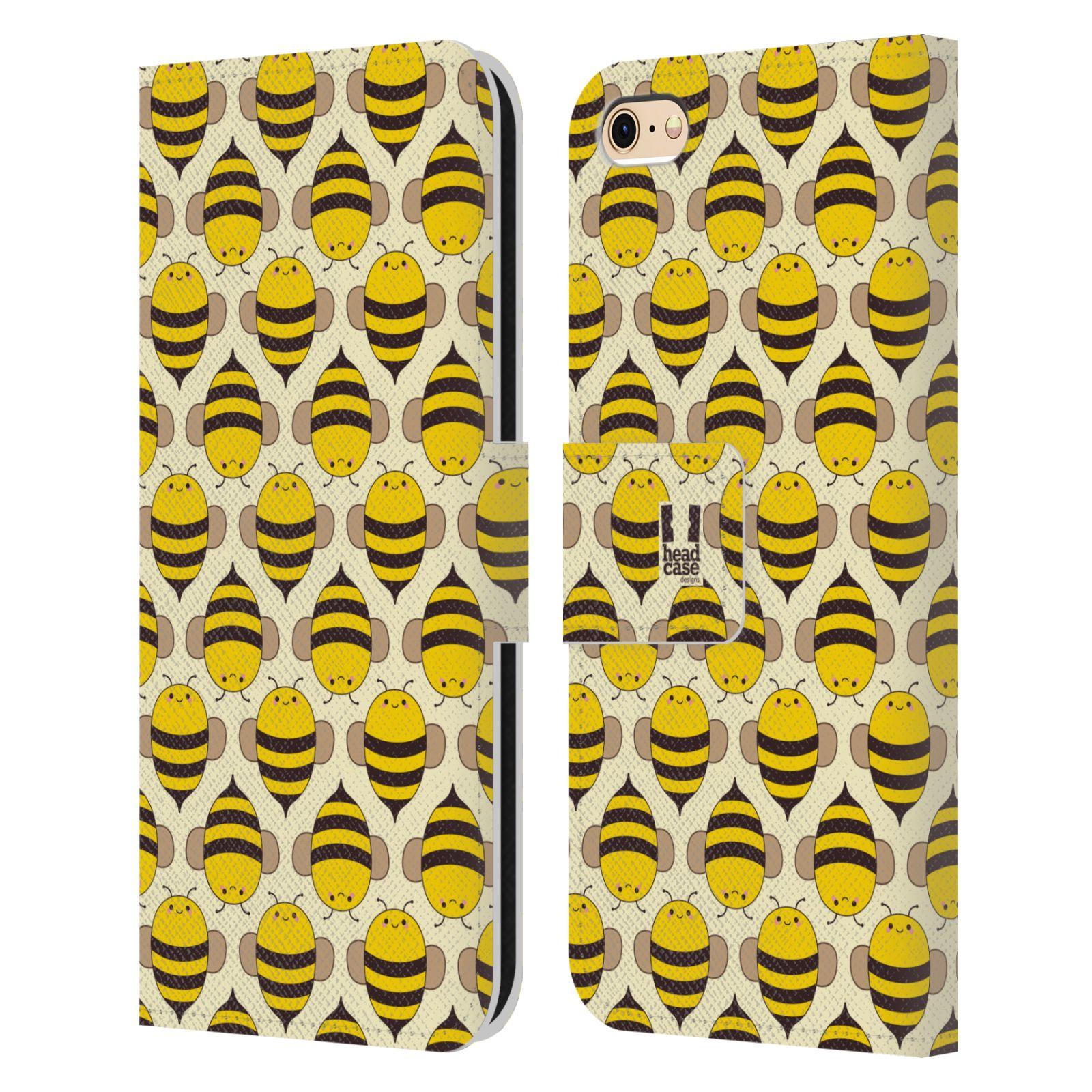 HEAD CASE Flipové pouzdro pro mobil Apple Iphone 6/6s VČELÍ VZOR kolonie včelek