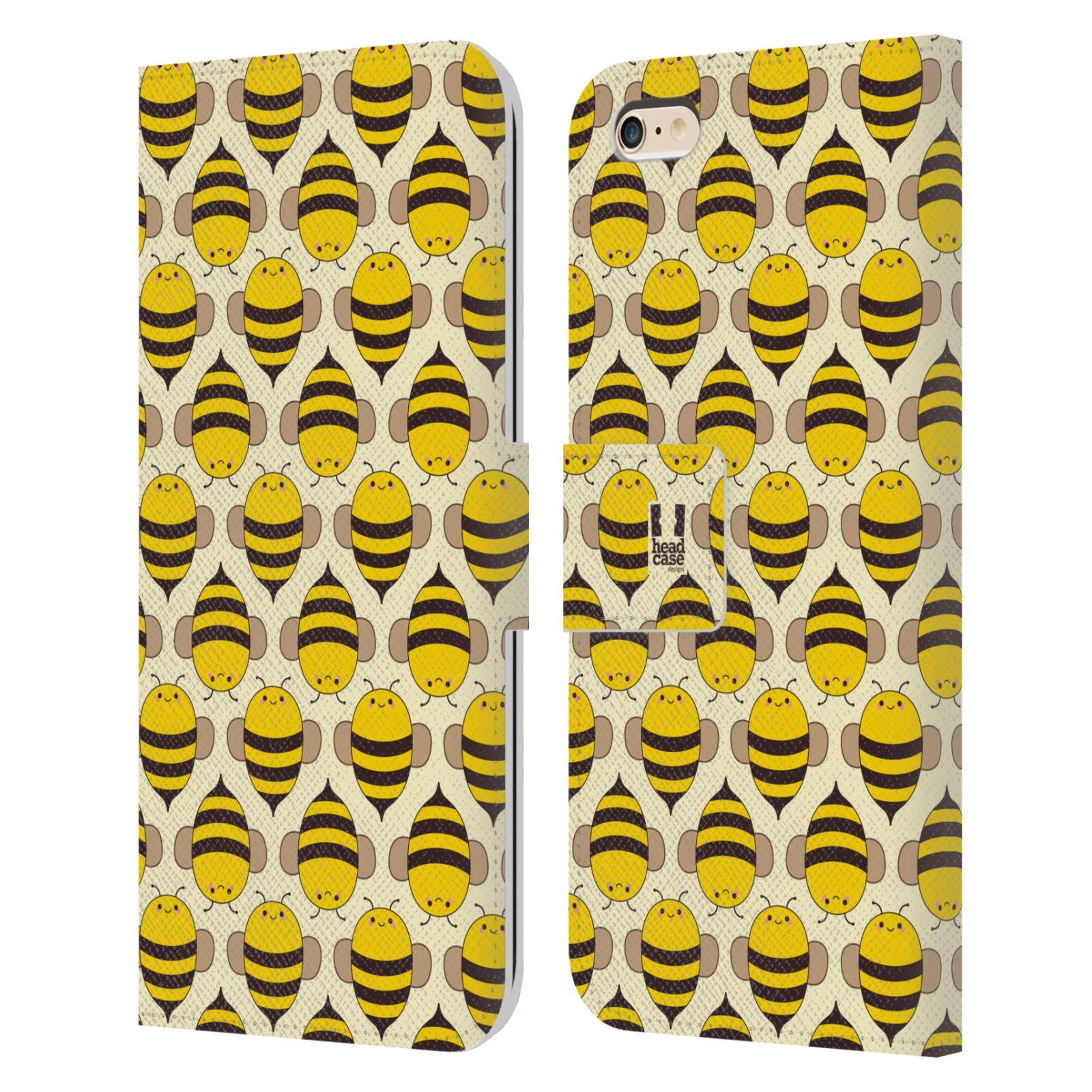 HEAD CASE Flipové pouzdro pro mobil Apple Iphone 6 PLUS / 6S PLUS VČELÍ VZOR kolonie včelek