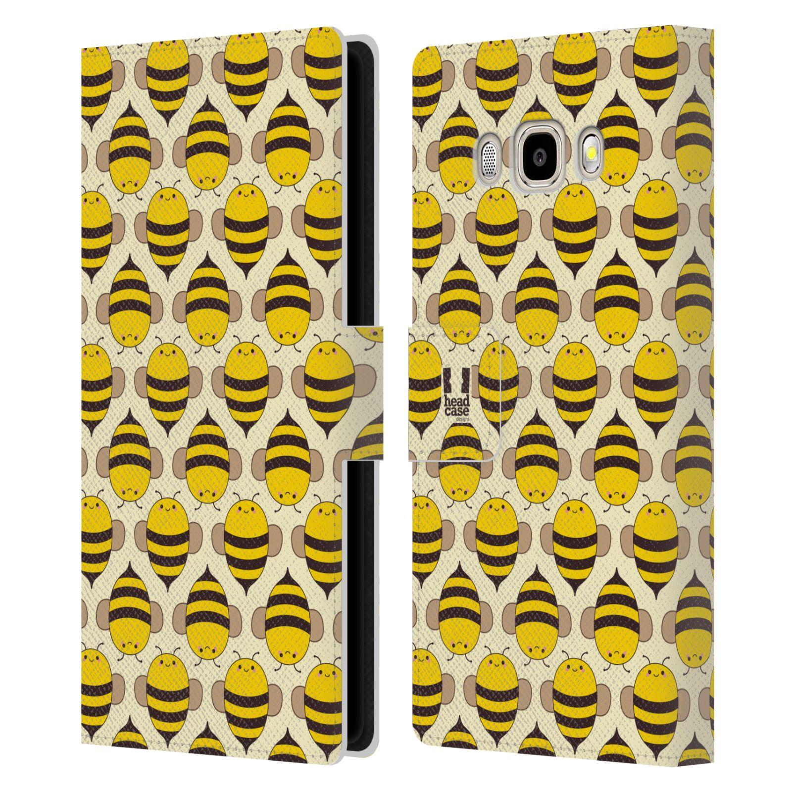 HEAD CASE Flipové pouzdro pro mobil Samsung Galaxy J5 2016 VČELÍ VZOR kolonie včelek