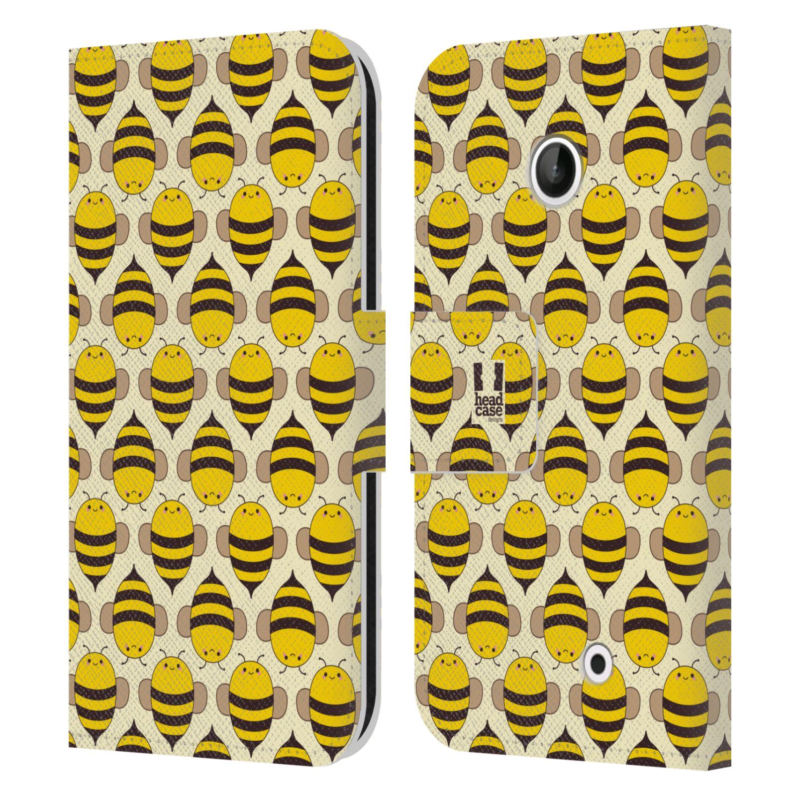 HEAD CASE Flipové pouzdro pro mobil NOKIA LUMIA 630 / LUMIA 630 DUAL VČELÍ VZOR kolonie včelek