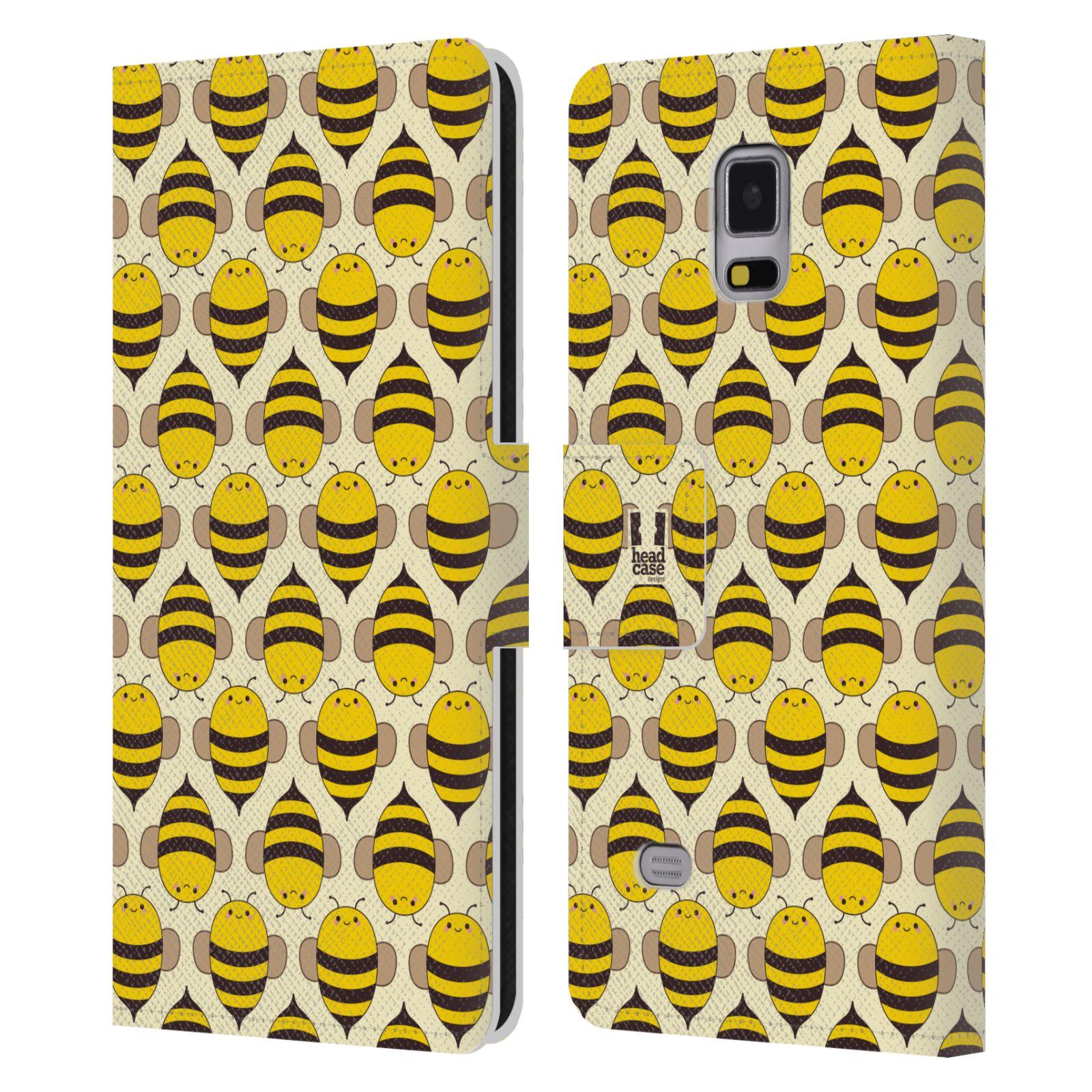 HEAD CASE Flipové pouzdro pro mobil Samsung Galaxy Note 4 VČELÍ VZOR kolonie včelek