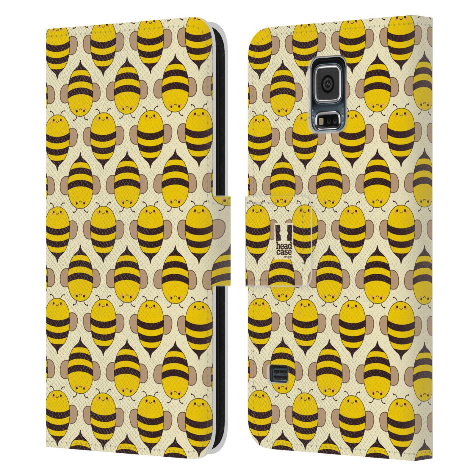 HEAD CASE Flipové pouzdro pro mobil Samsung Galaxy S5 / S5 NEO VČELÍ VZOR kolonie včelek