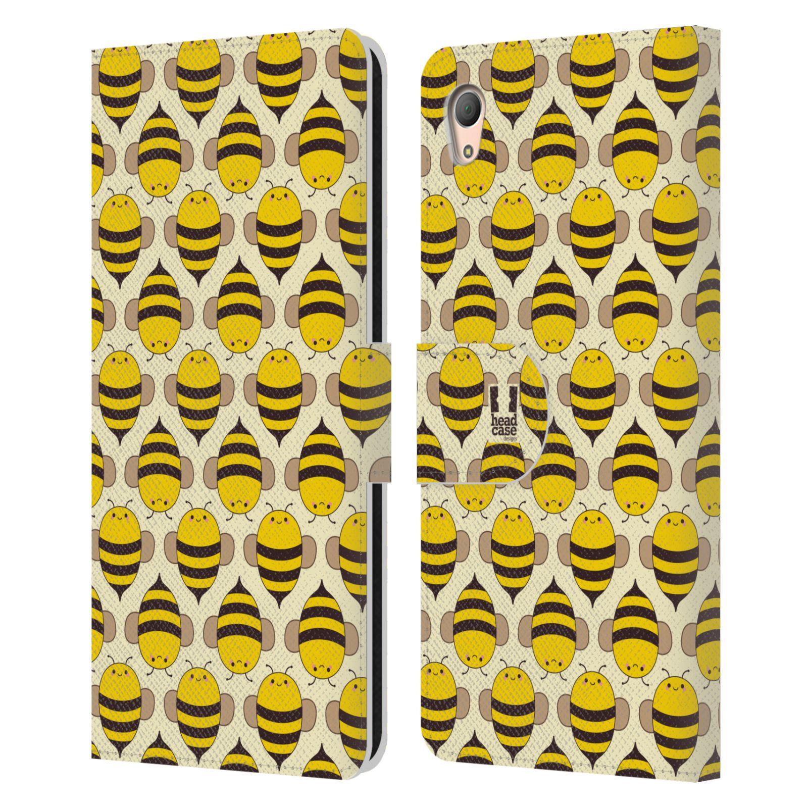 HEAD CASE Flipové pouzdro pro mobil SONY XPERIA Z3+ (PLUS) VČELÍ VZOR kolonie včelek