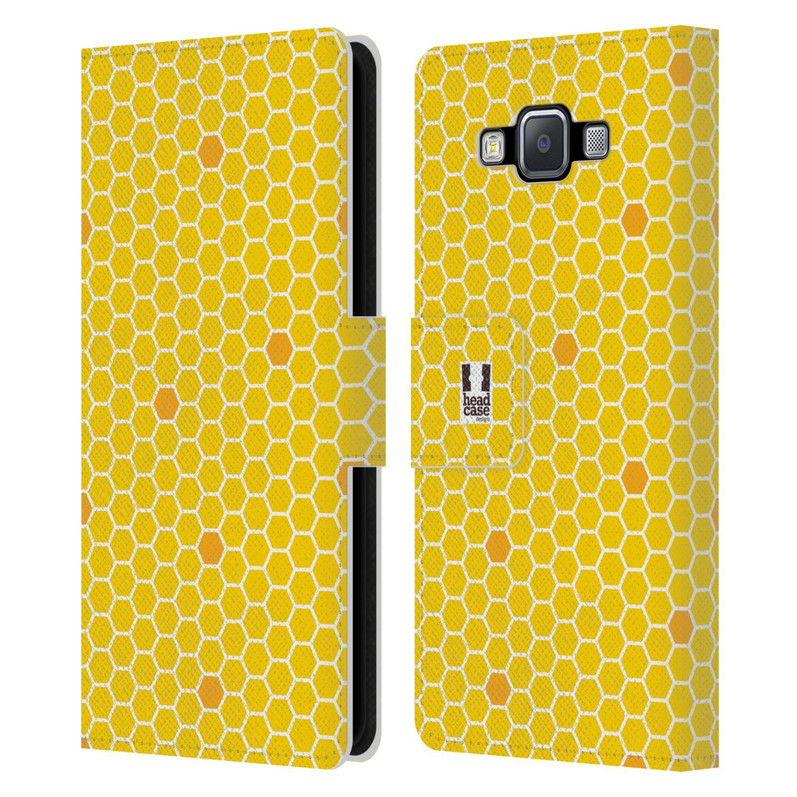 HEAD CASE Flipové pouzdro pro mobil Samsung Galaxy A5 VČELÍ VZOR plástev žlutá
