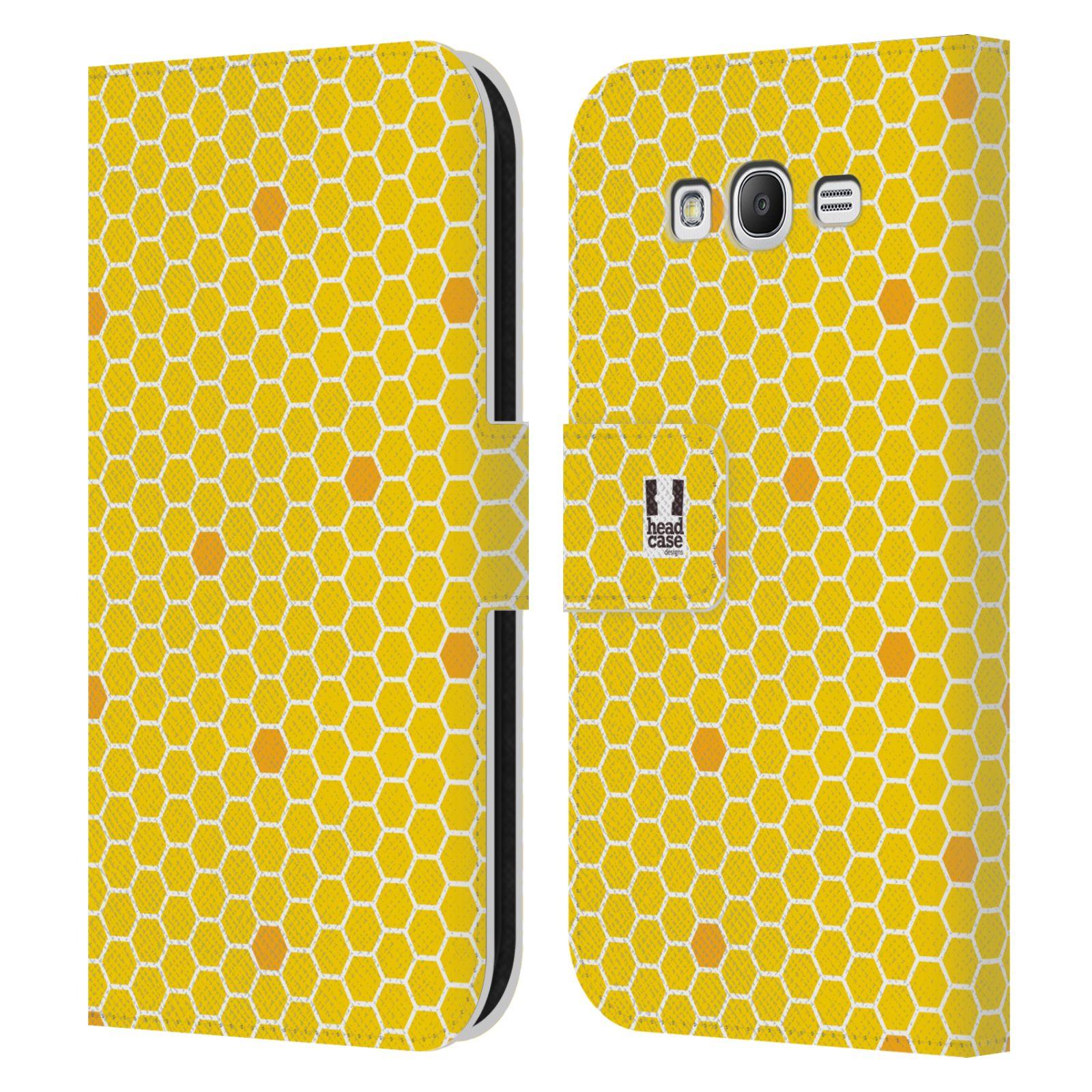HEAD CASE Flipové pouzdro pro mobil Samsung Galaxy Grand i9080 VČELÍ VZOR plástev žlutá