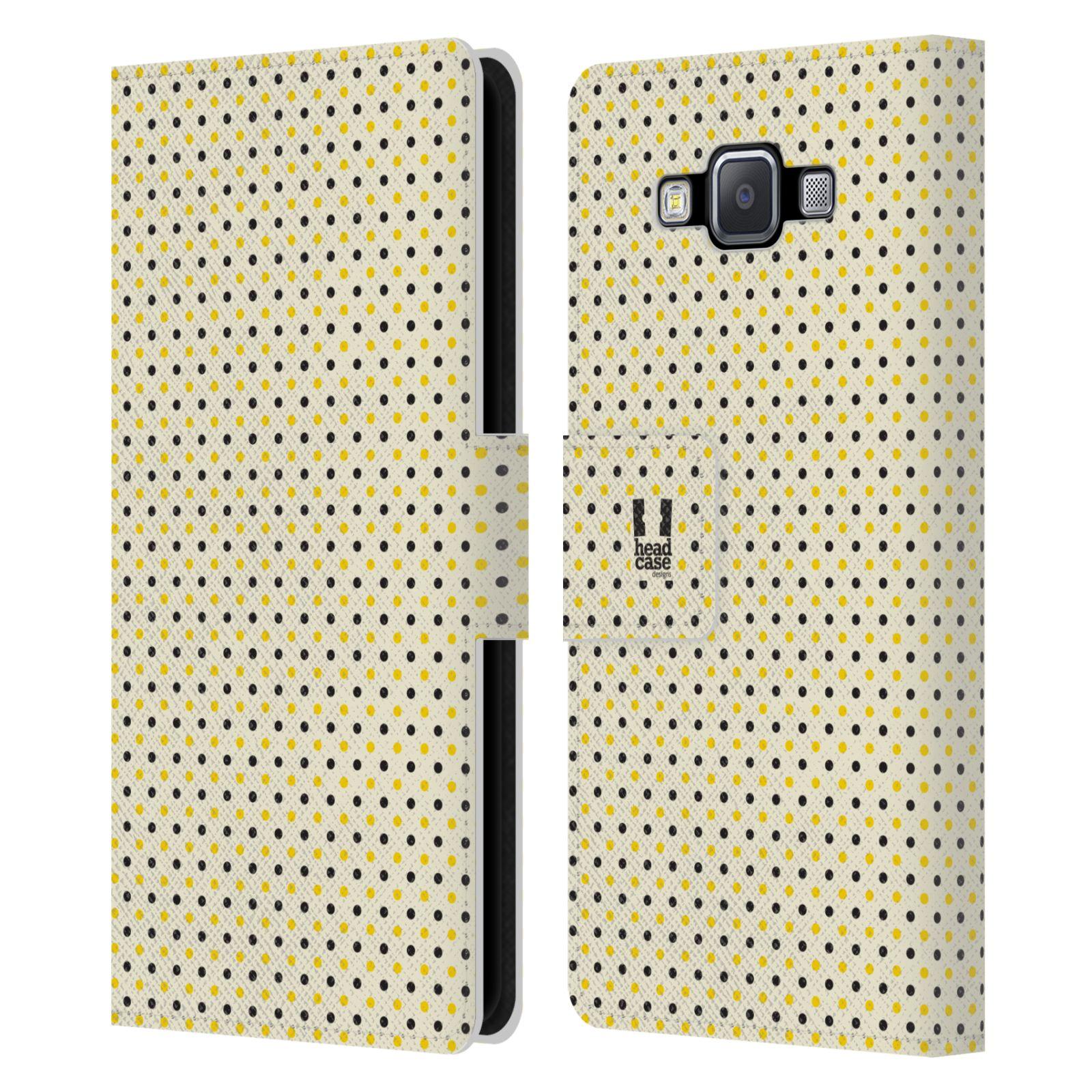 HEAD CASE Flipové pouzdro pro mobil Samsung Galaxy A5 VČELÍ VZOR tečky a puntíky