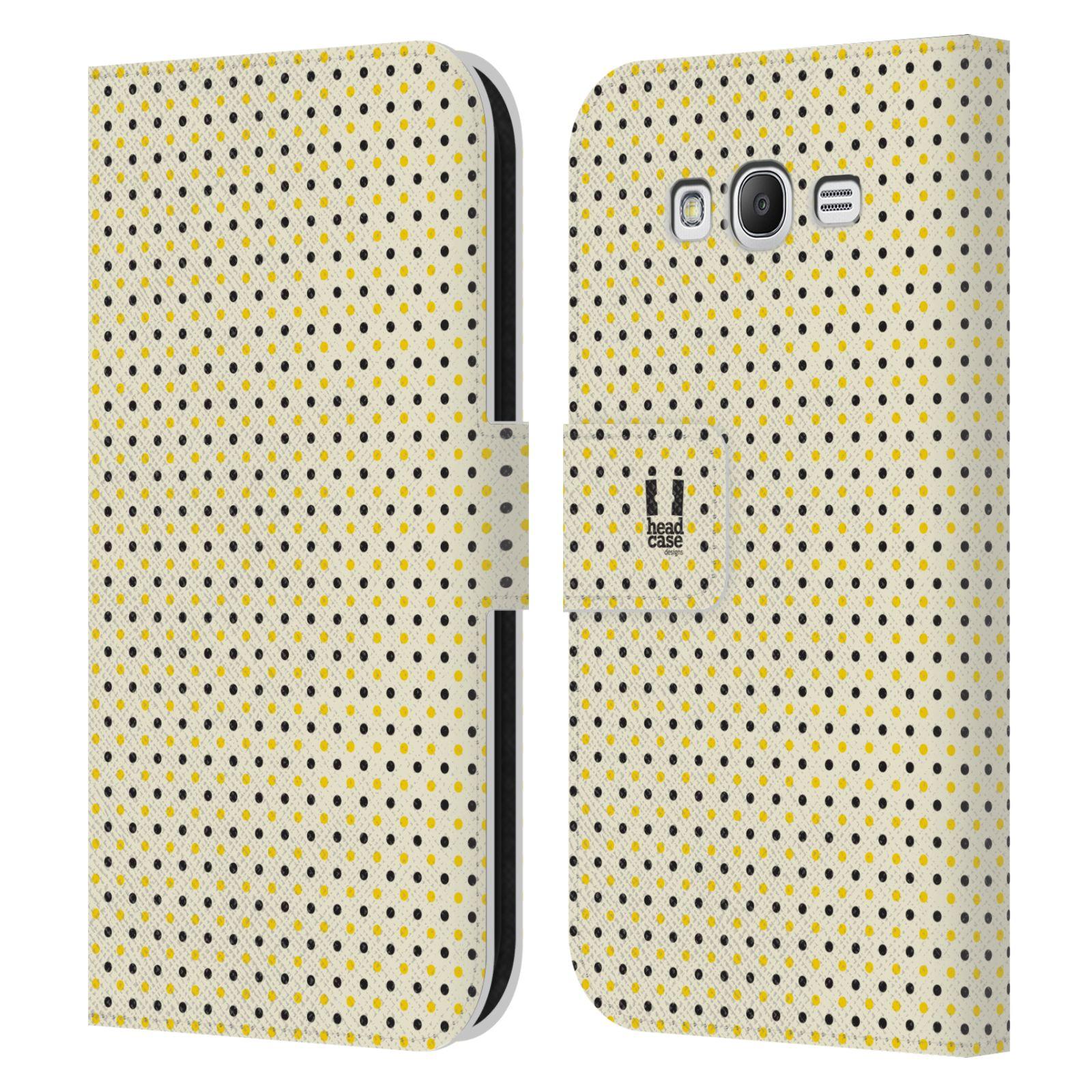 HEAD CASE Flipové pouzdro pro mobil Samsung Galaxy Grand i9080 VČELÍ VZOR tečky a puntíky