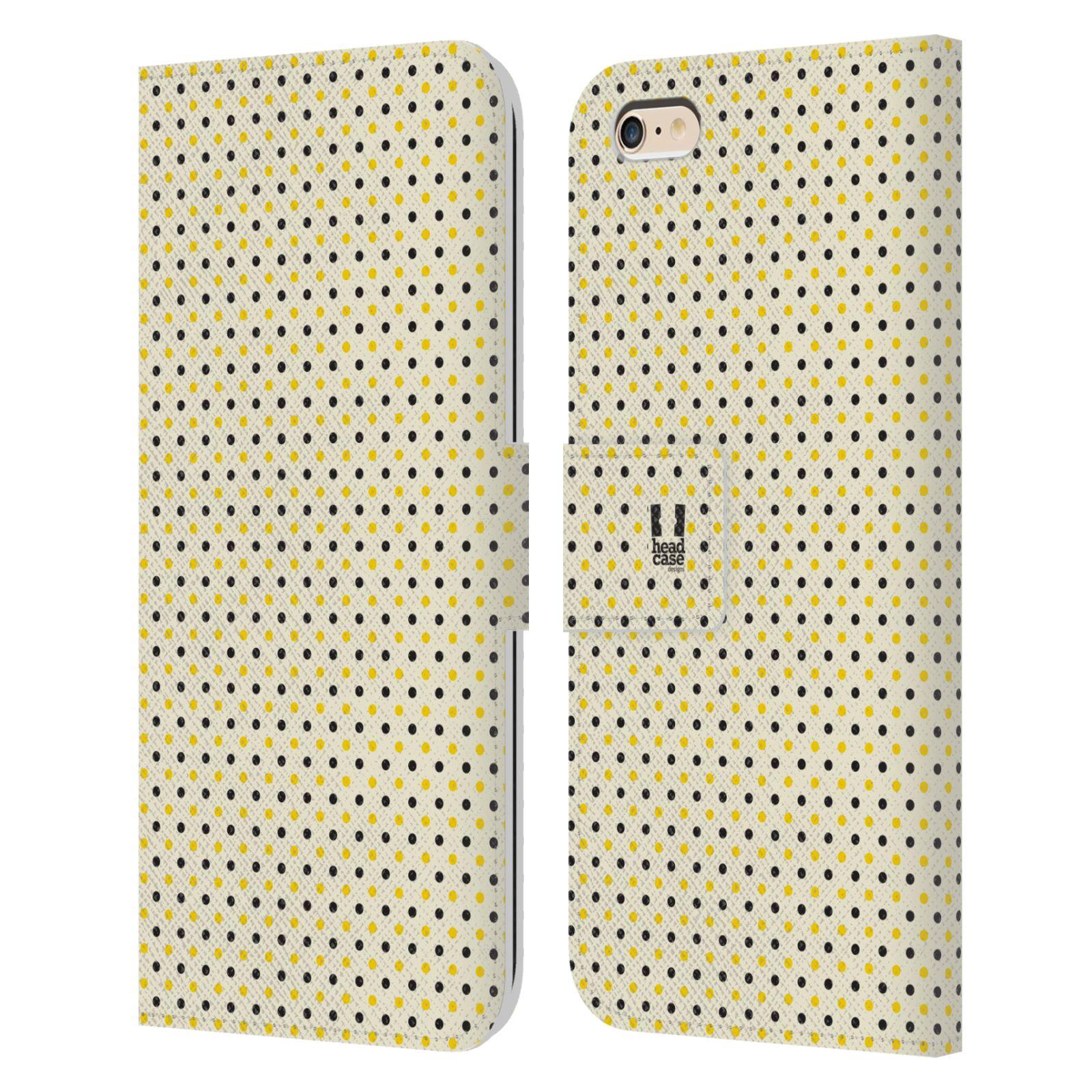HEAD CASE Flipové pouzdro pro mobil Apple Iphone 6 PLUS / 6S PLUS VČELÍ VZOR tečky a puntíky