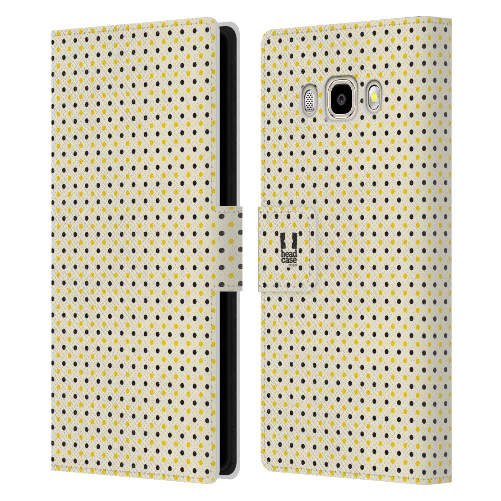 HEAD CASE Flipové pouzdro pro mobil Samsung Galaxy J5 2016 VČELÍ VZOR tečky a puntíky