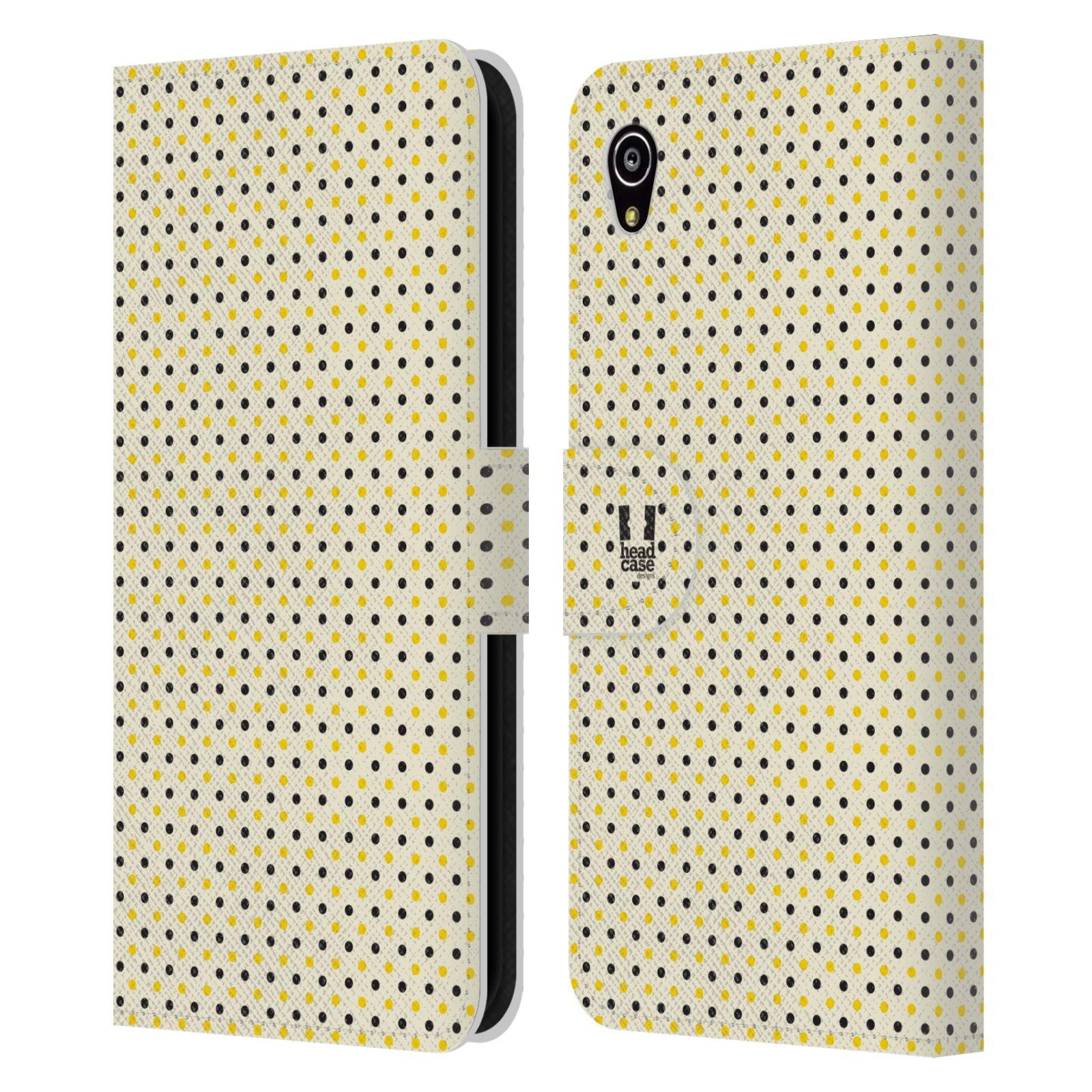 HEAD CASE Flipové pouzdro pro mobil SONY XPERIA M4 AQUA VČELÍ VZOR tečky a puntíky