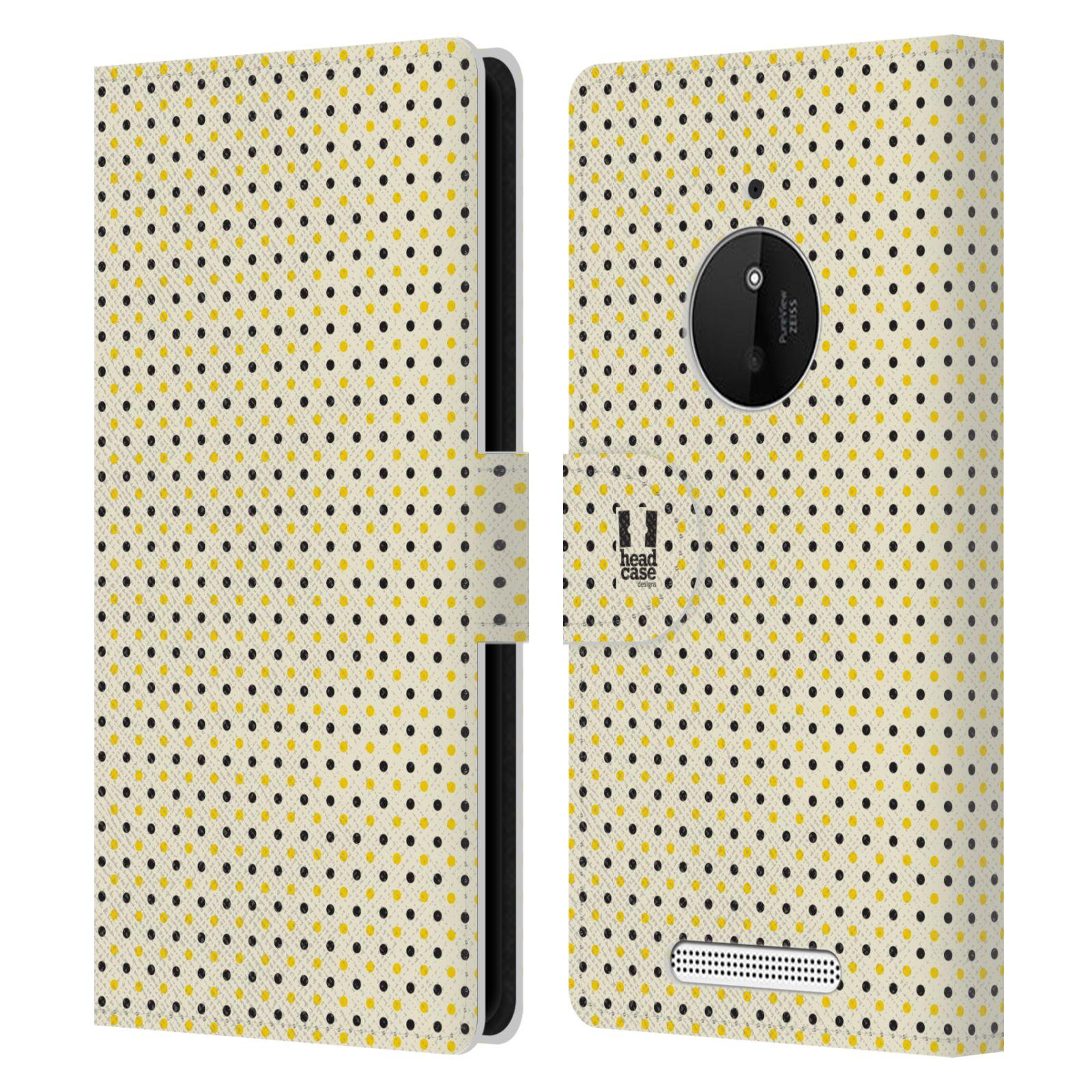 HEAD CASE Flipové pouzdro pro mobil NOKIA LUMIA 830 VČELÍ VZOR tečky a puntíky