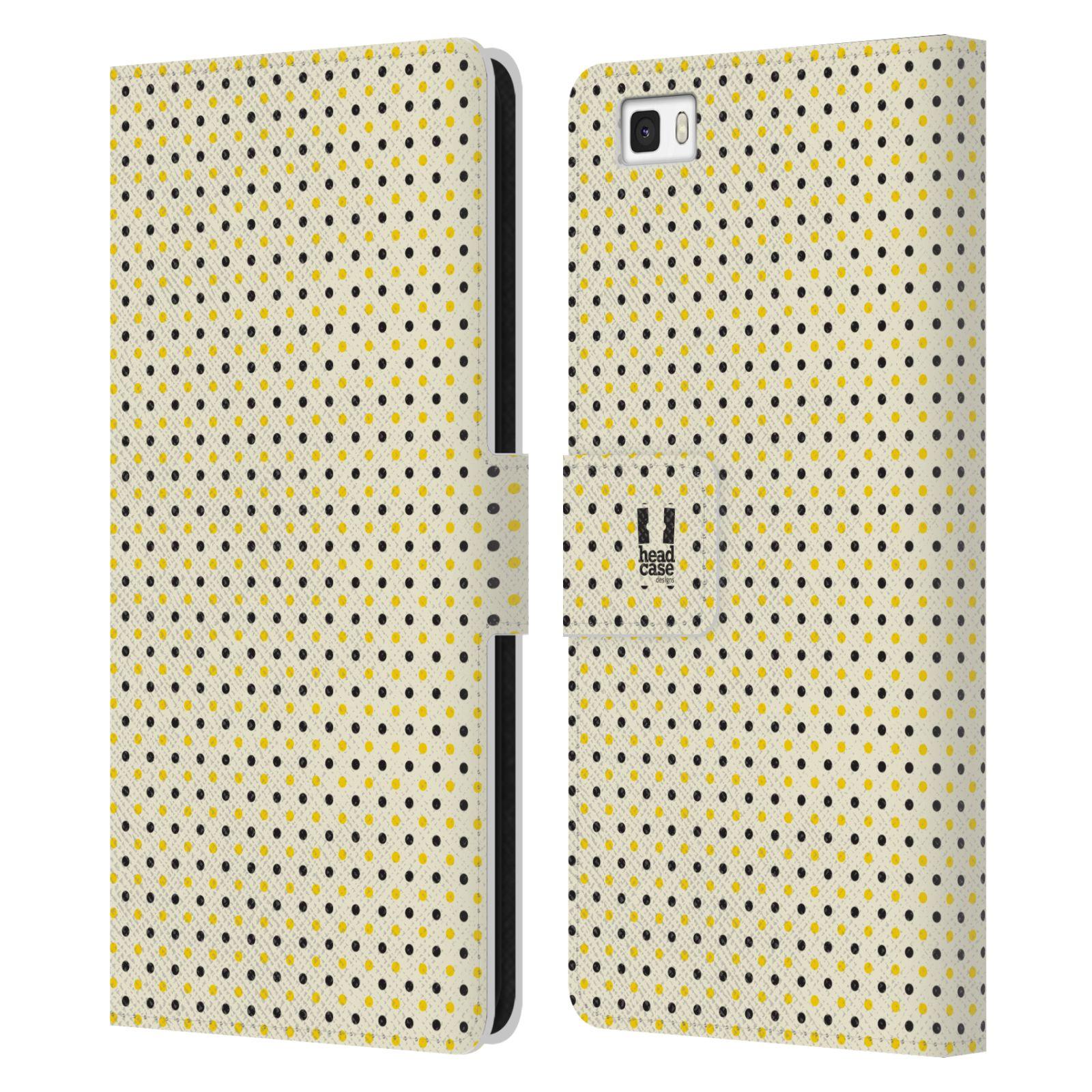 HEAD CASE Flipové pouzdro pro mobil Huawei P8 LITE VČELÍ VZOR tečky a puntíky