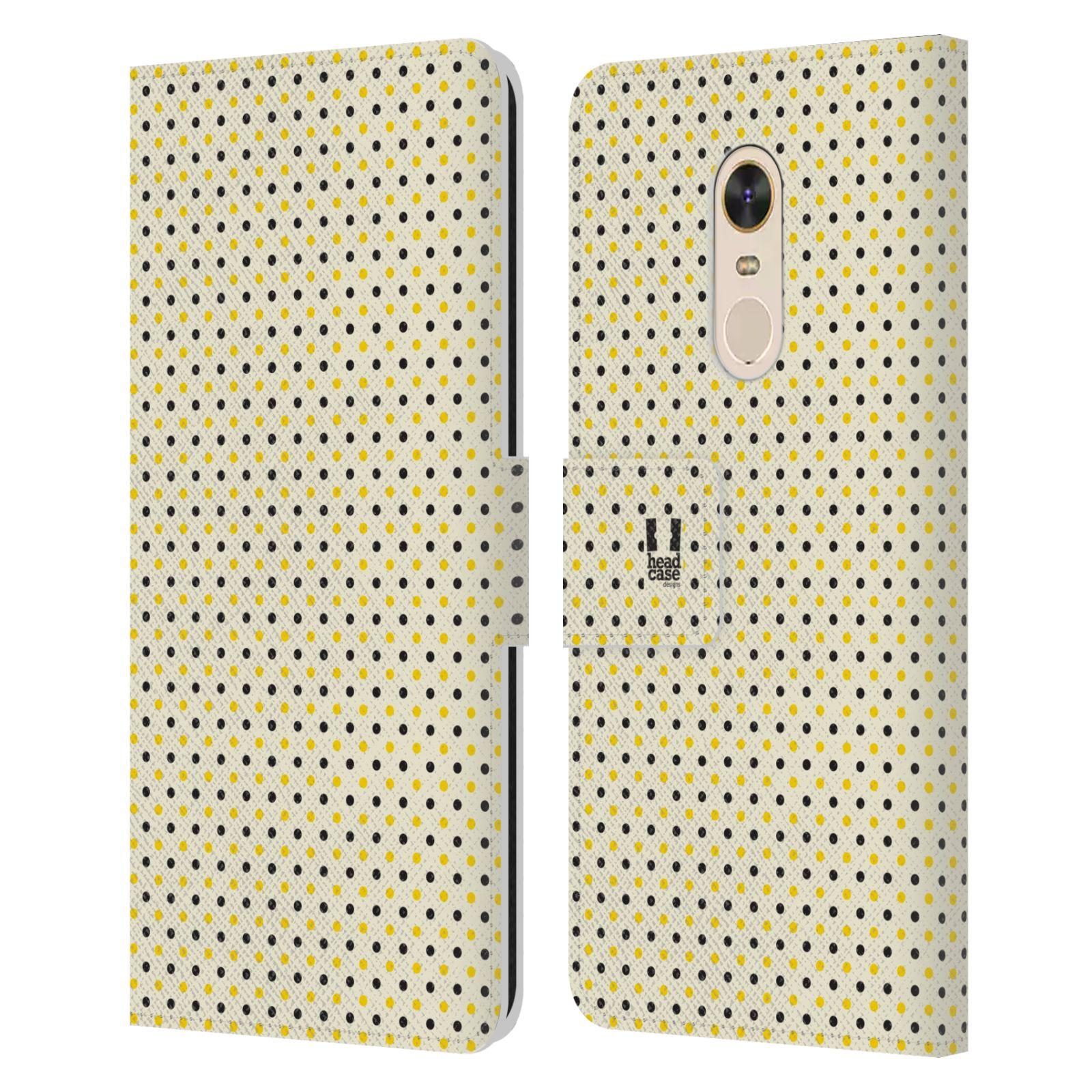 HEAD CASE Flipové pouzdro pro mobil Xiaomi Redmi Note 5 VČELÍ VZOR tečky a puntíky