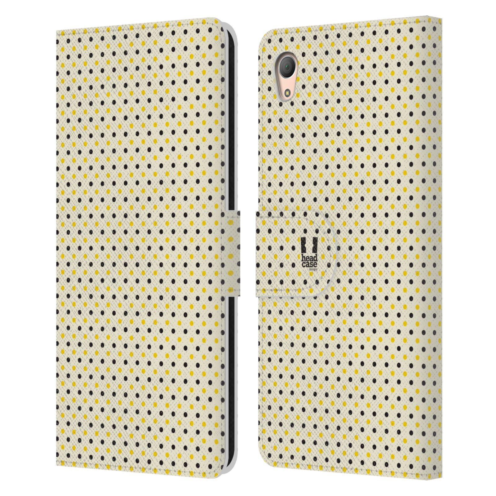 HEAD CASE Flipové pouzdro pro mobil SONY XPERIA Z3+ (PLUS) VČELÍ VZOR tečky a puntíky