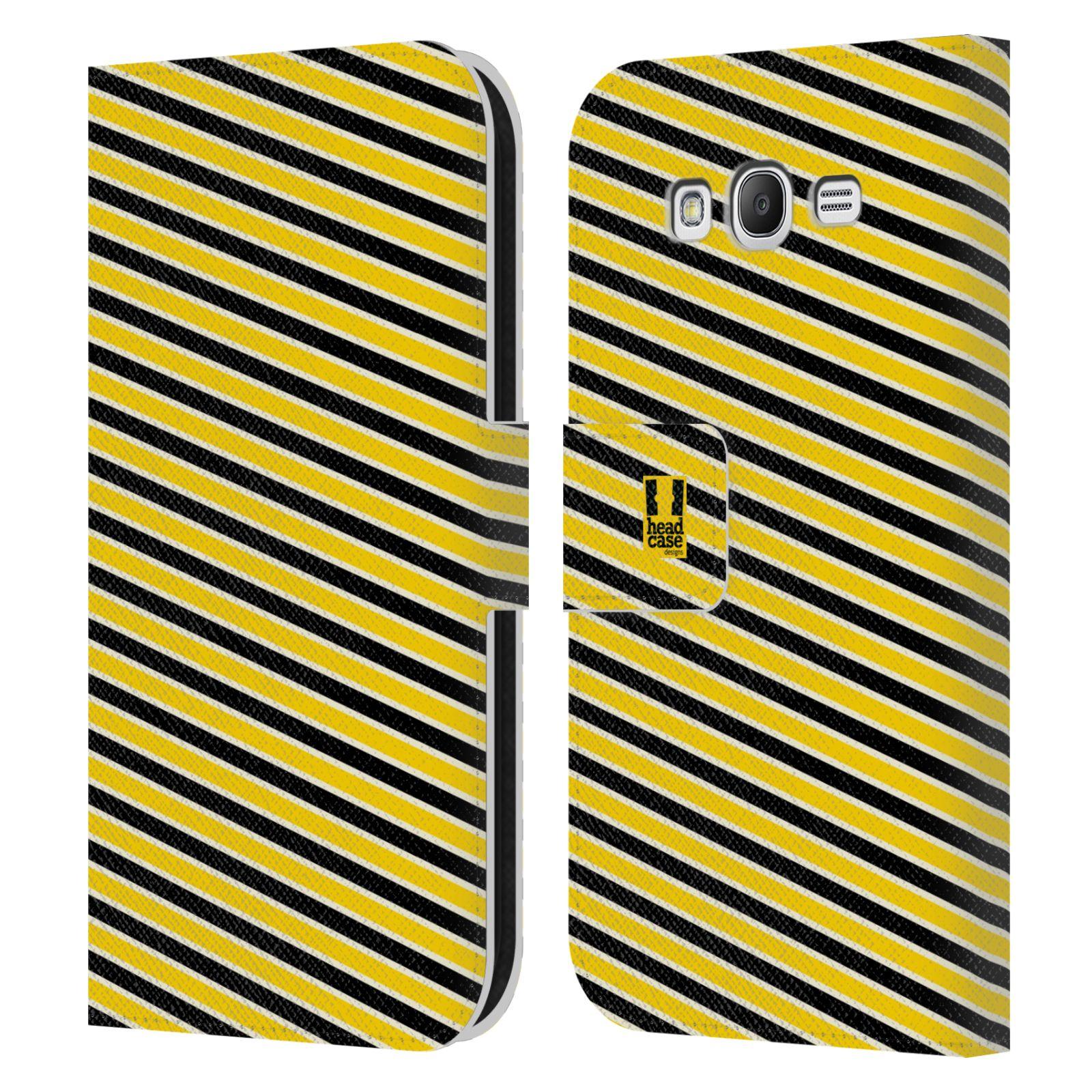 HEAD CASE Flipové pouzdro pro mobil Samsung Galaxy Grand i9080 VČELÍ VZOR pruhy žlutá a černá