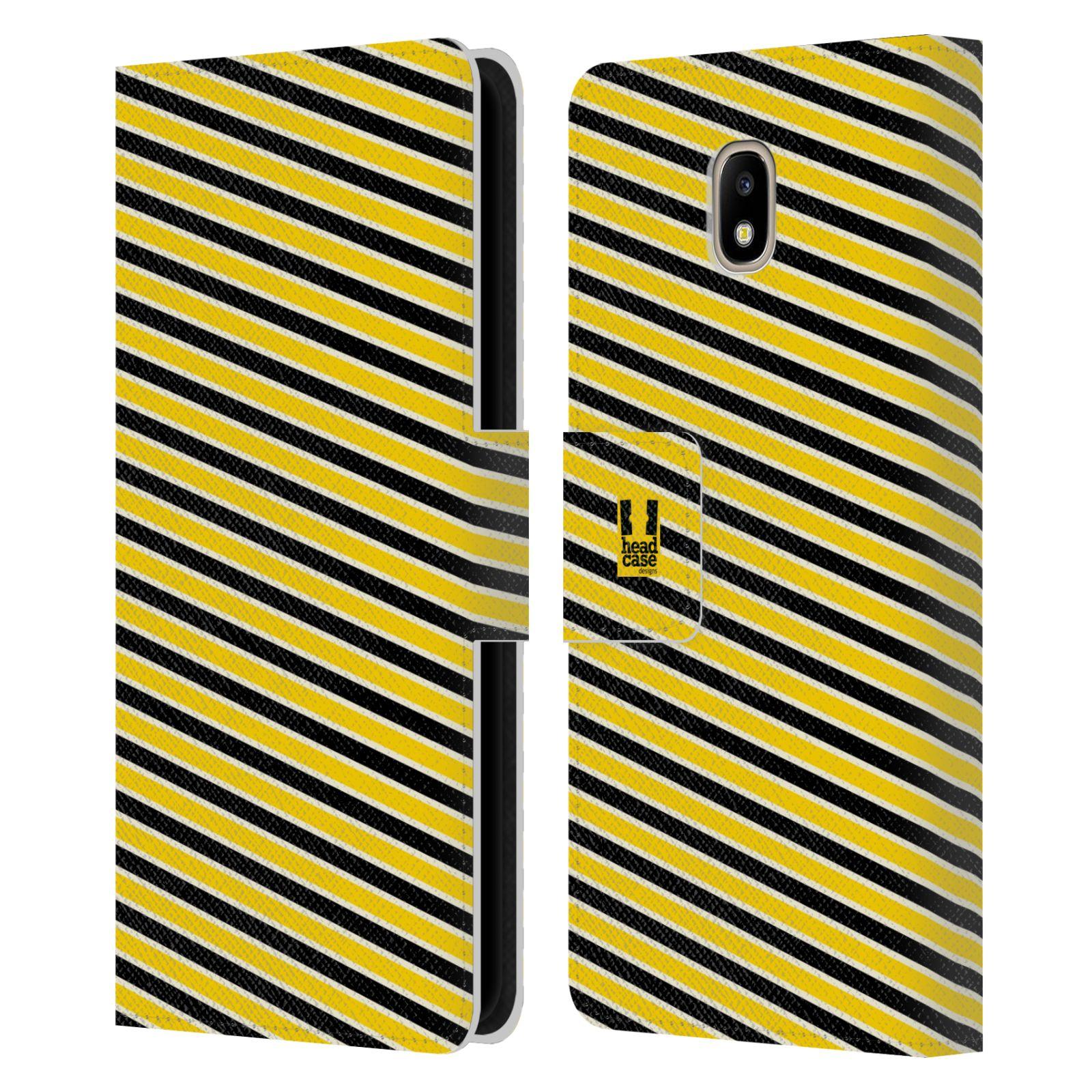 HEAD CASE Flipové pouzdro pro mobil Samsung Galaxy J5 2017 VČELÍ VZOR pruhy  žlutá a černá 0da4698ff92