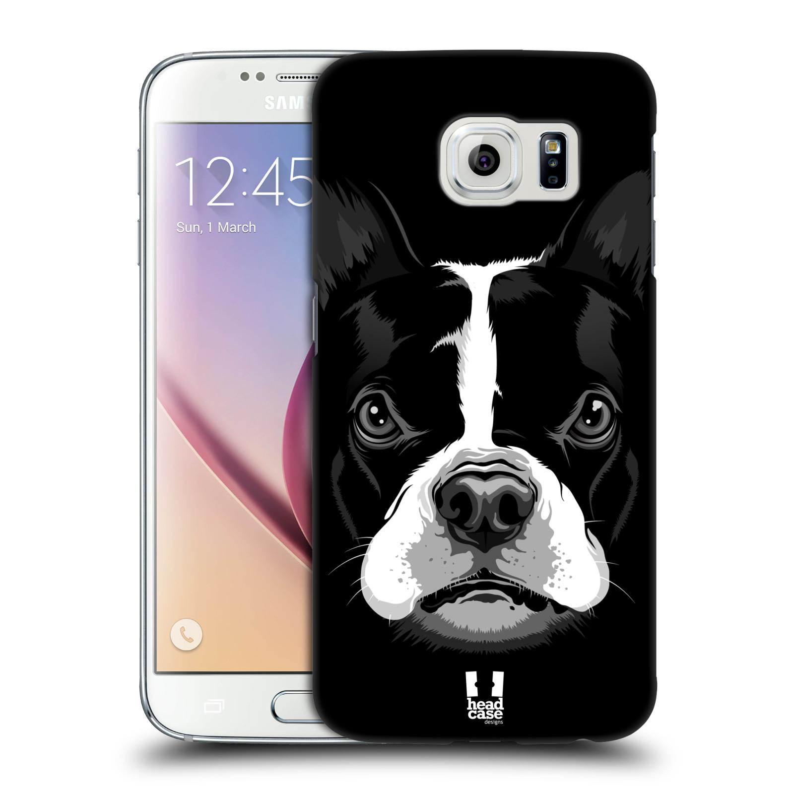 HEAD CASE plastový obal na mobil SAMSUNG Galaxy S6 (G9200, G920F) vzor Zvíře kreslená tvář 2 buldok