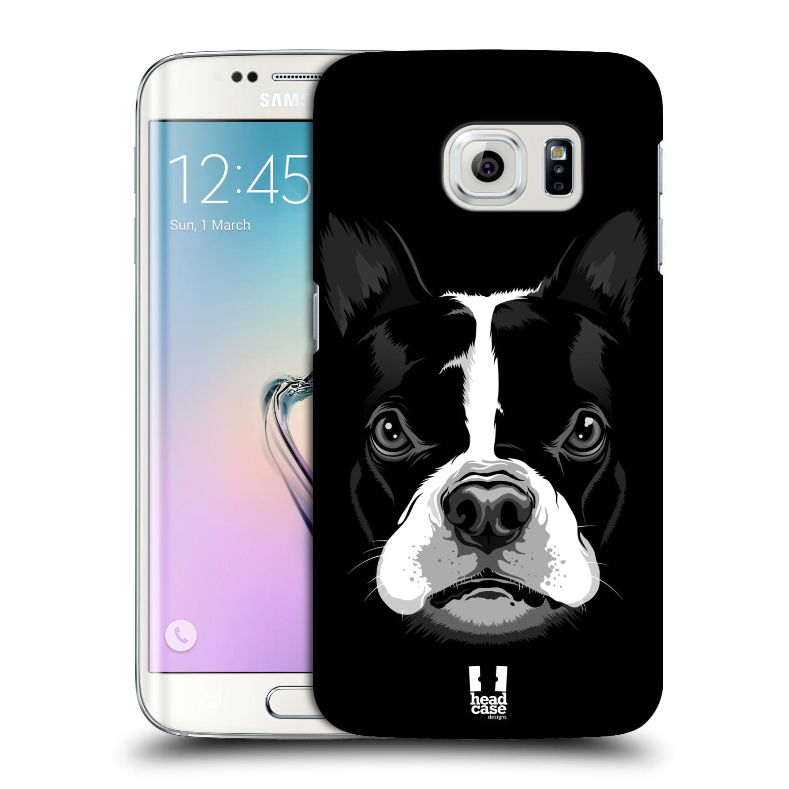 HEAD CASE plastový obal na mobil SAMSUNG Galaxy S6 EDGE (G9250, G925, G925F) vzor Zvíře kreslená tvář 2 buldok