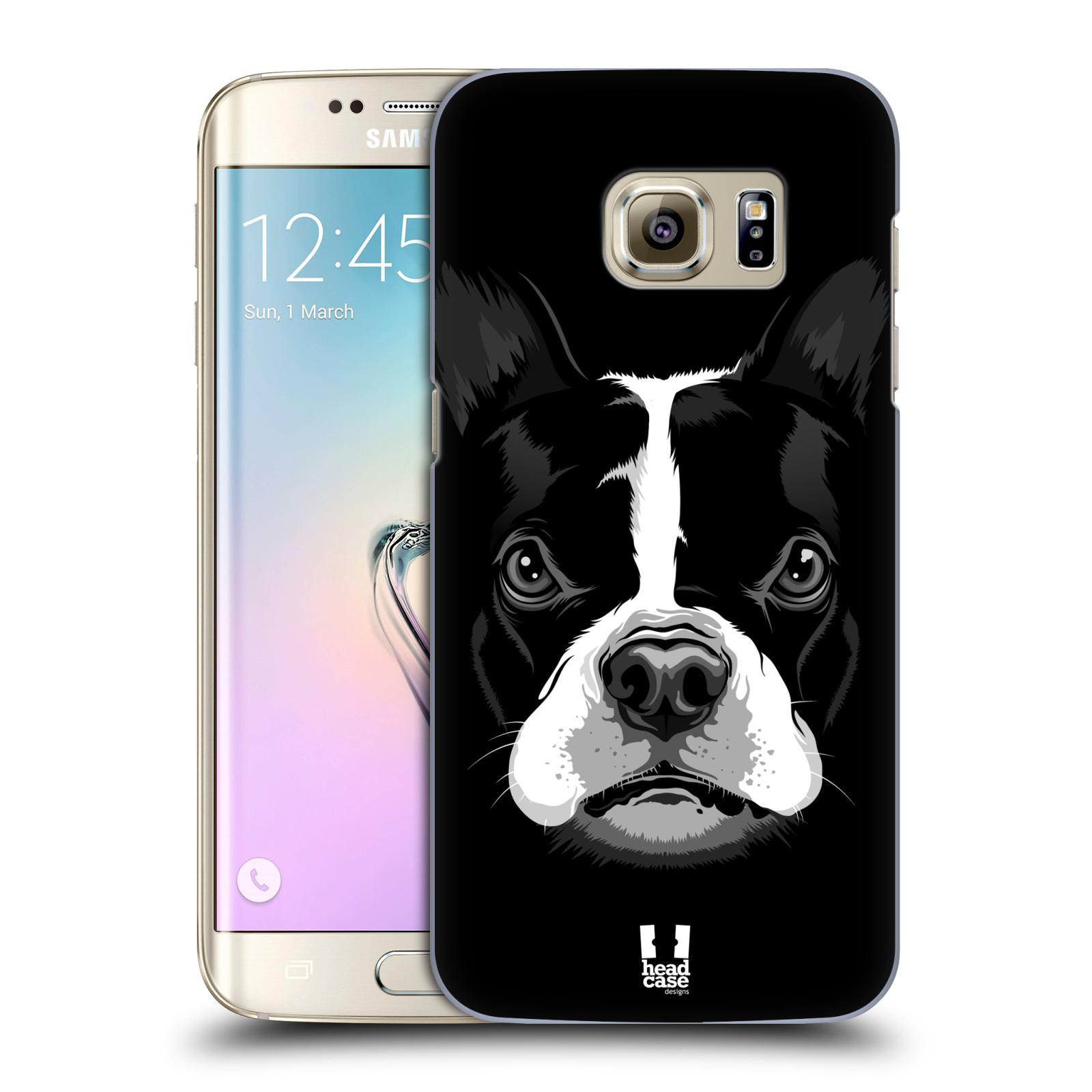 HEAD CASE plastový obal na mobil SAMSUNG GALAXY S7 EDGE vzor Zvíře kreslená tvář 2 buldok