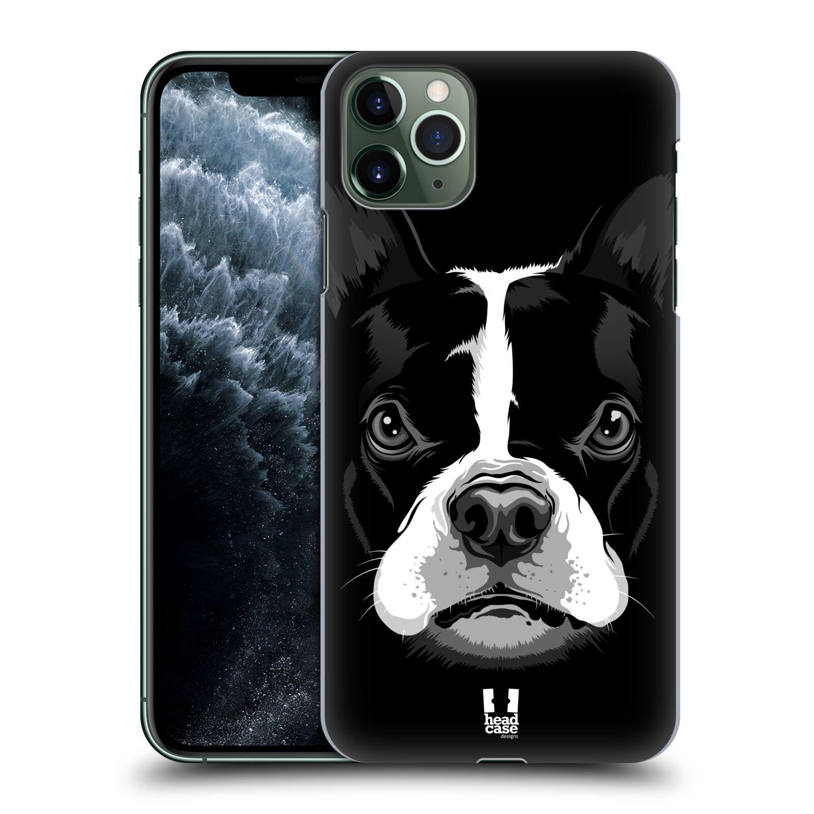 Pouzdro na mobil Apple Iphone 11 PRO MAX - HEAD CASE - vzor Zvíře kreslená tvář 2 buldok