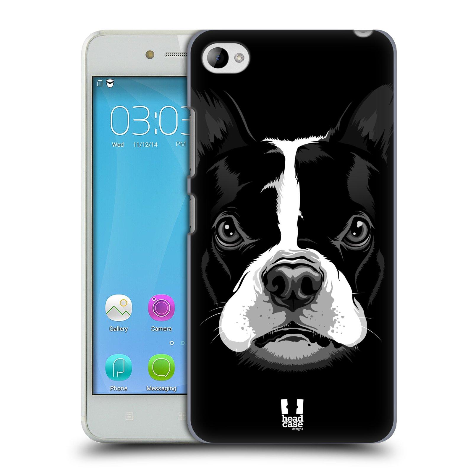 HEAD CASE pevný plastový obal na mobil LENOVO S90 vzor Zvíře kreslená tvář 2 buldok