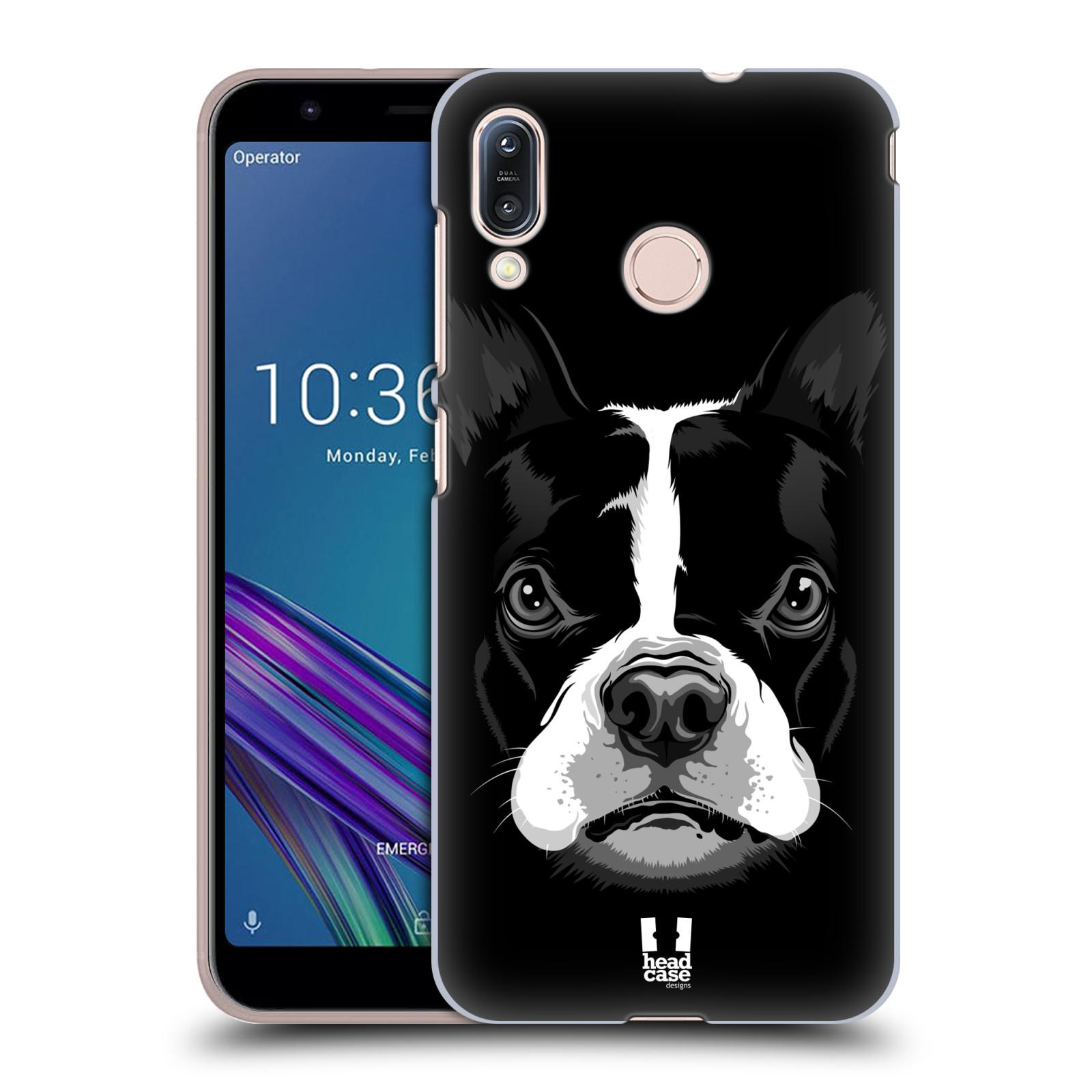 Pouzdro na mobil Asus Zenfone Max M1 (ZB555KL) - HEAD CASE - vzor Zvíře kreslená tvář 2 buldok