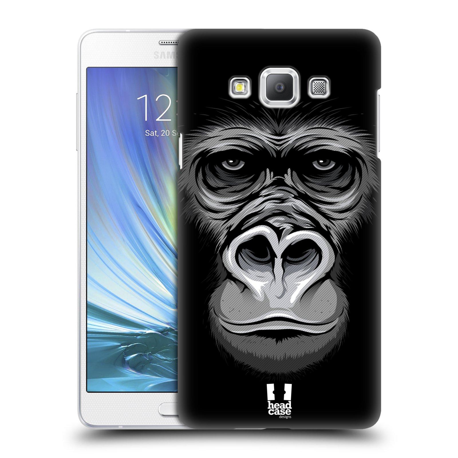 HEAD CASE plastový obal na mobil SAMSUNG GALAXY A7 vzor Zvíře kreslená tvář 2 gorila