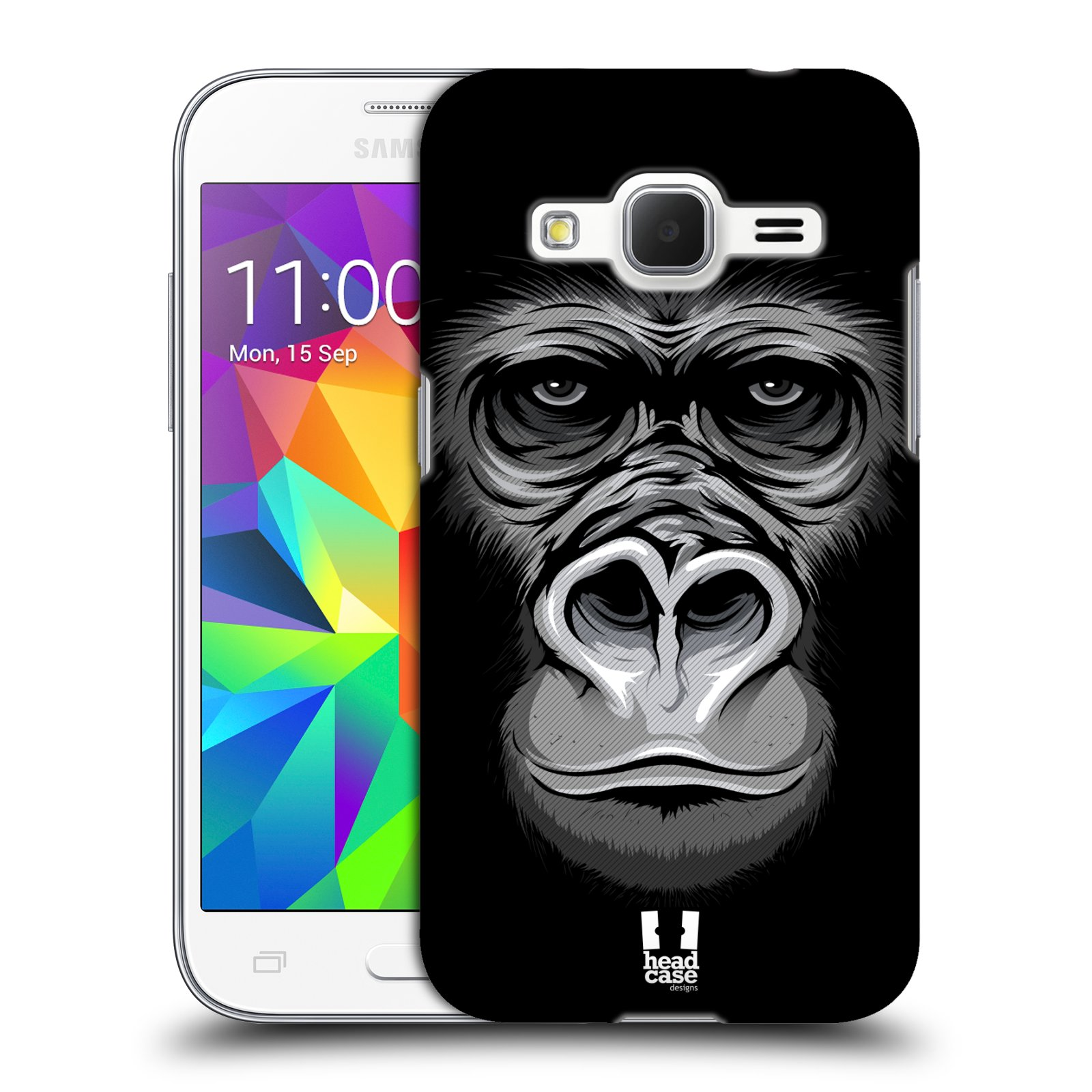 HEAD CASE plastový obal na mobil SAMSUNG GALAXY Core Prime (Core Prime VE) vzor Zvíře kreslená tvář 2 gorila