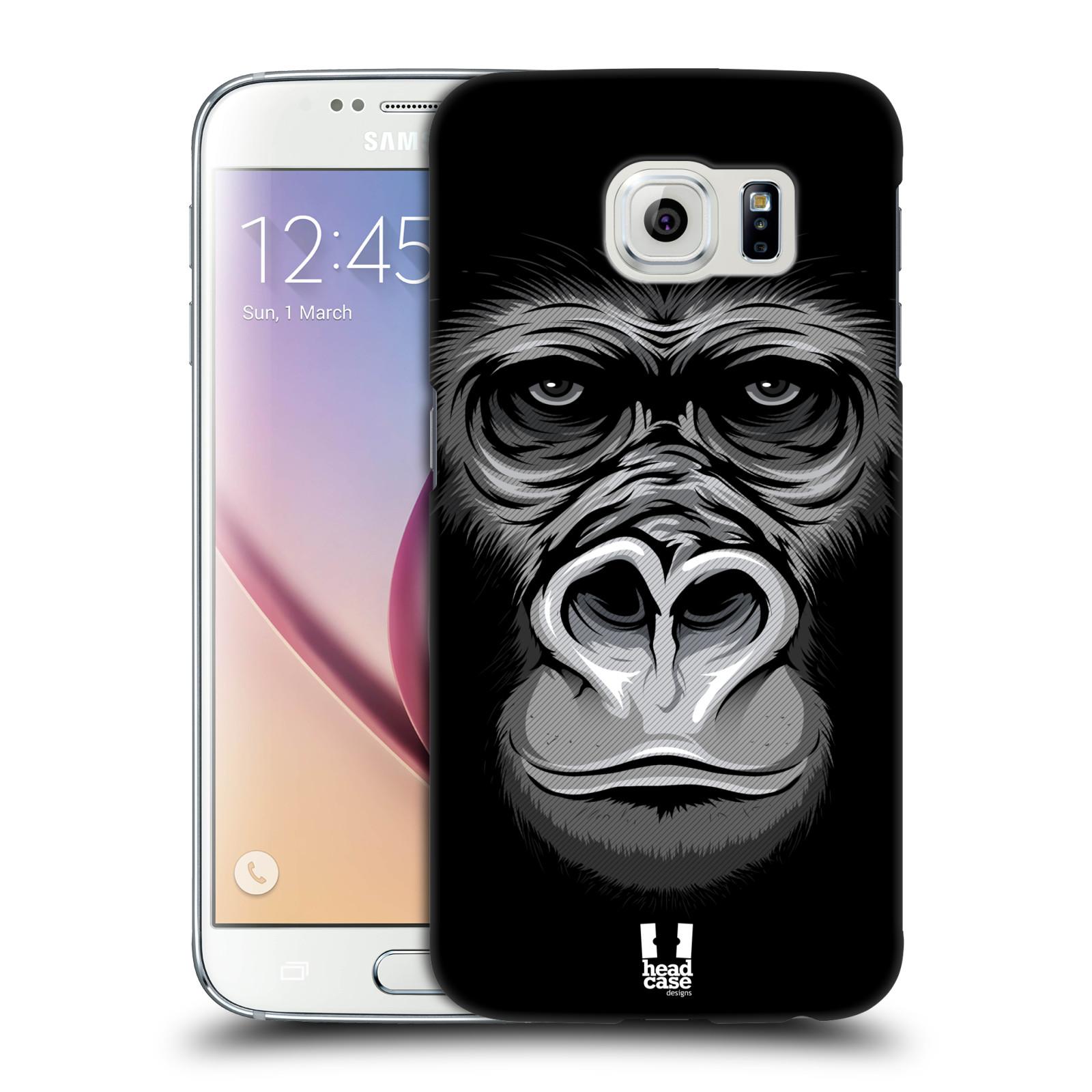 HEAD CASE plastový obal na mobil SAMSUNG Galaxy S6 (G9200, G920F) vzor Zvíře kreslená tvář 2 gorila