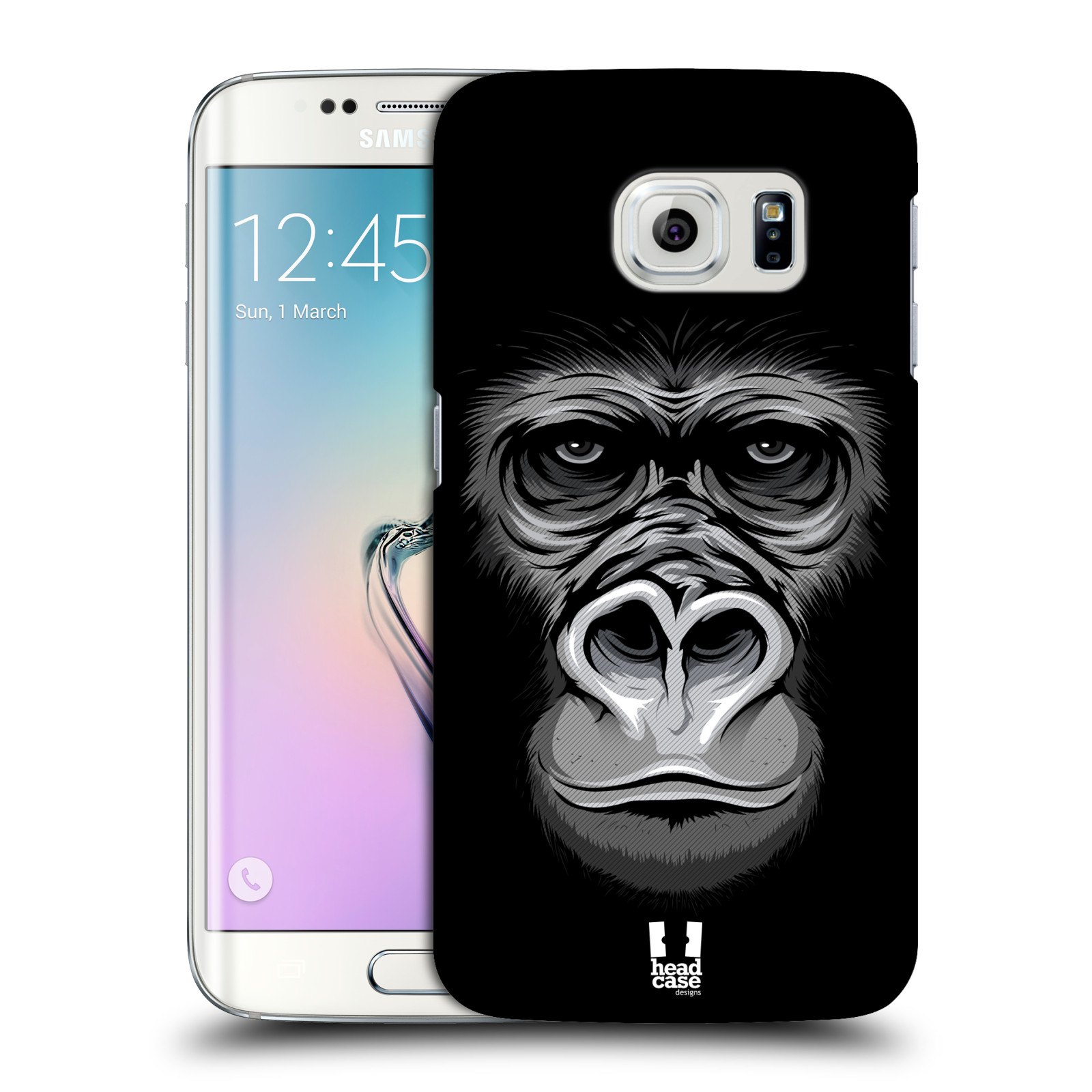 HEAD CASE plastový obal na mobil SAMSUNG Galaxy S6 EDGE (G9250, G925, G925F) vzor Zvíře kreslená tvář 2 gorila