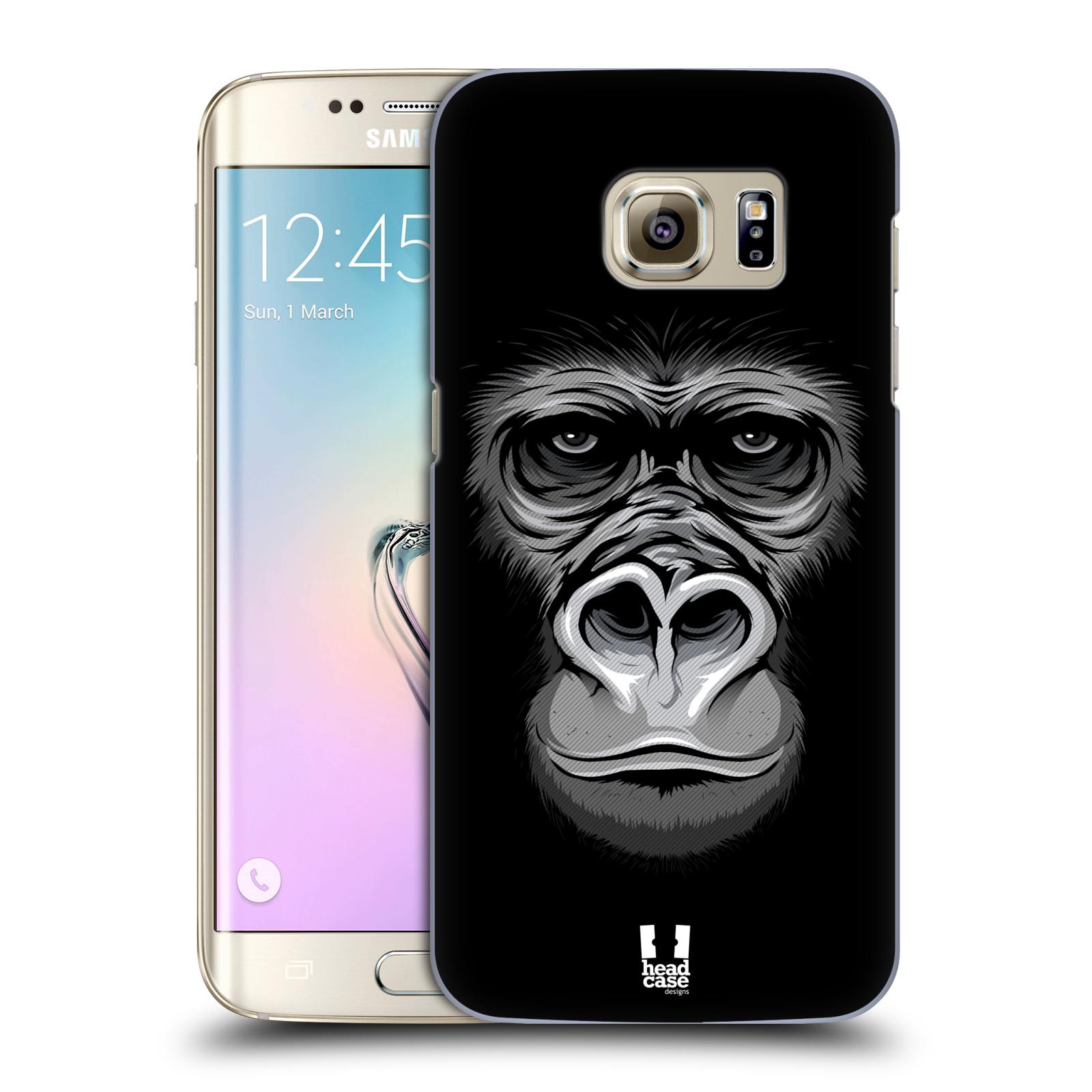 HEAD CASE plastový obal na mobil SAMSUNG GALAXY S7 EDGE vzor Zvíře kreslená tvář 2 gorila