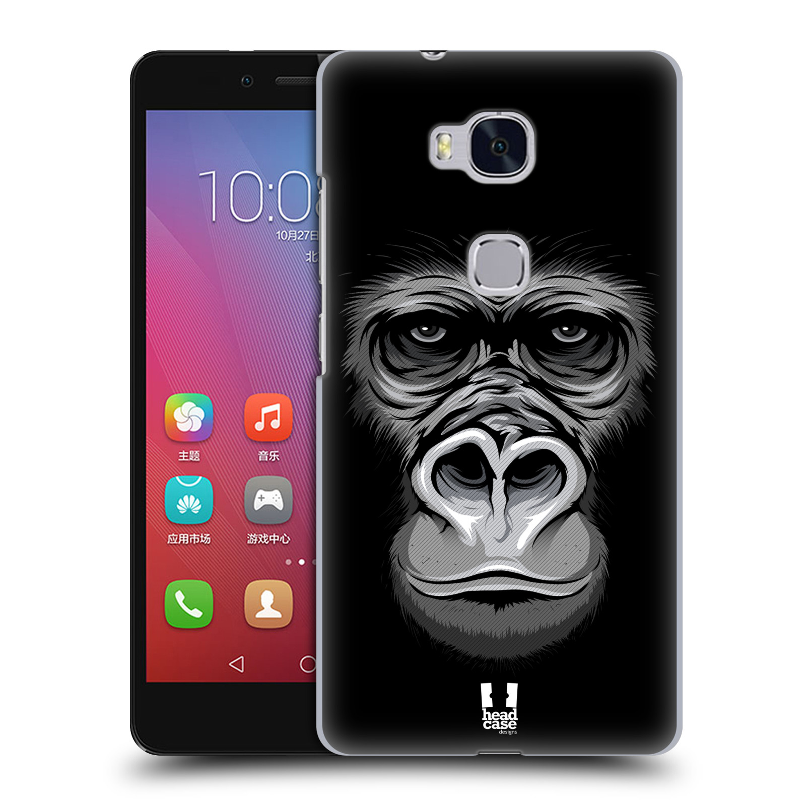 HEAD CASE pevný plastový obal na mobil HUAWEI HONOR 5X vzor Zvíře kreslená tvář 2 gorila