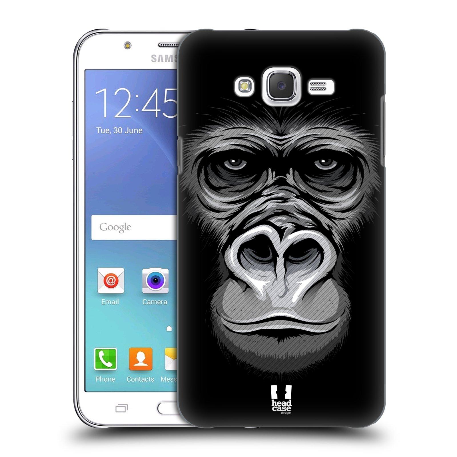 HEAD CASE plastový obal na mobil SAMSUNG Galaxy J7, J700 vzor Zvíře kreslená tvář 2 gorila