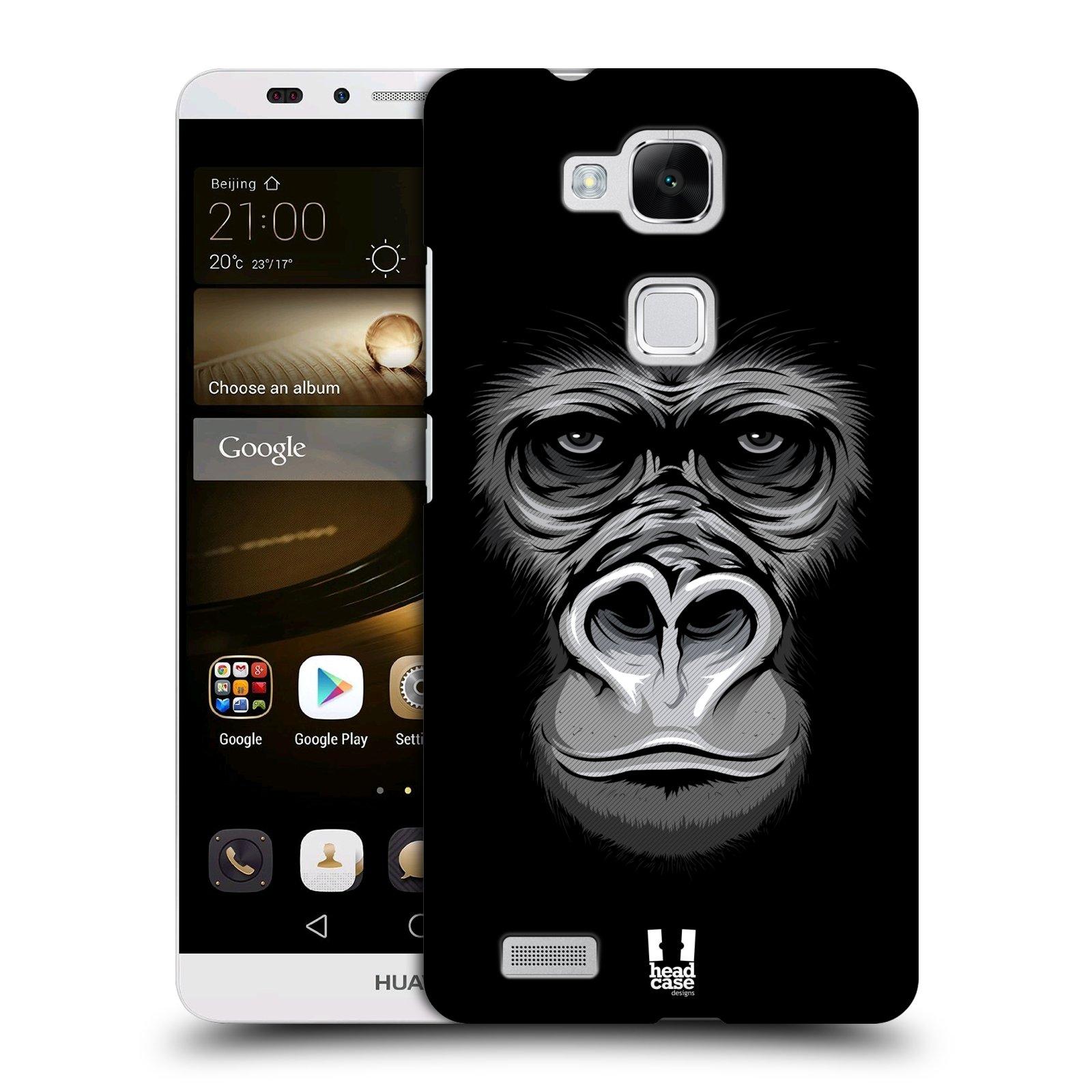 HEAD CASE plastový obal na mobil Huawei Mate 7 vzor Zvíře kreslená tvář 2 gorila