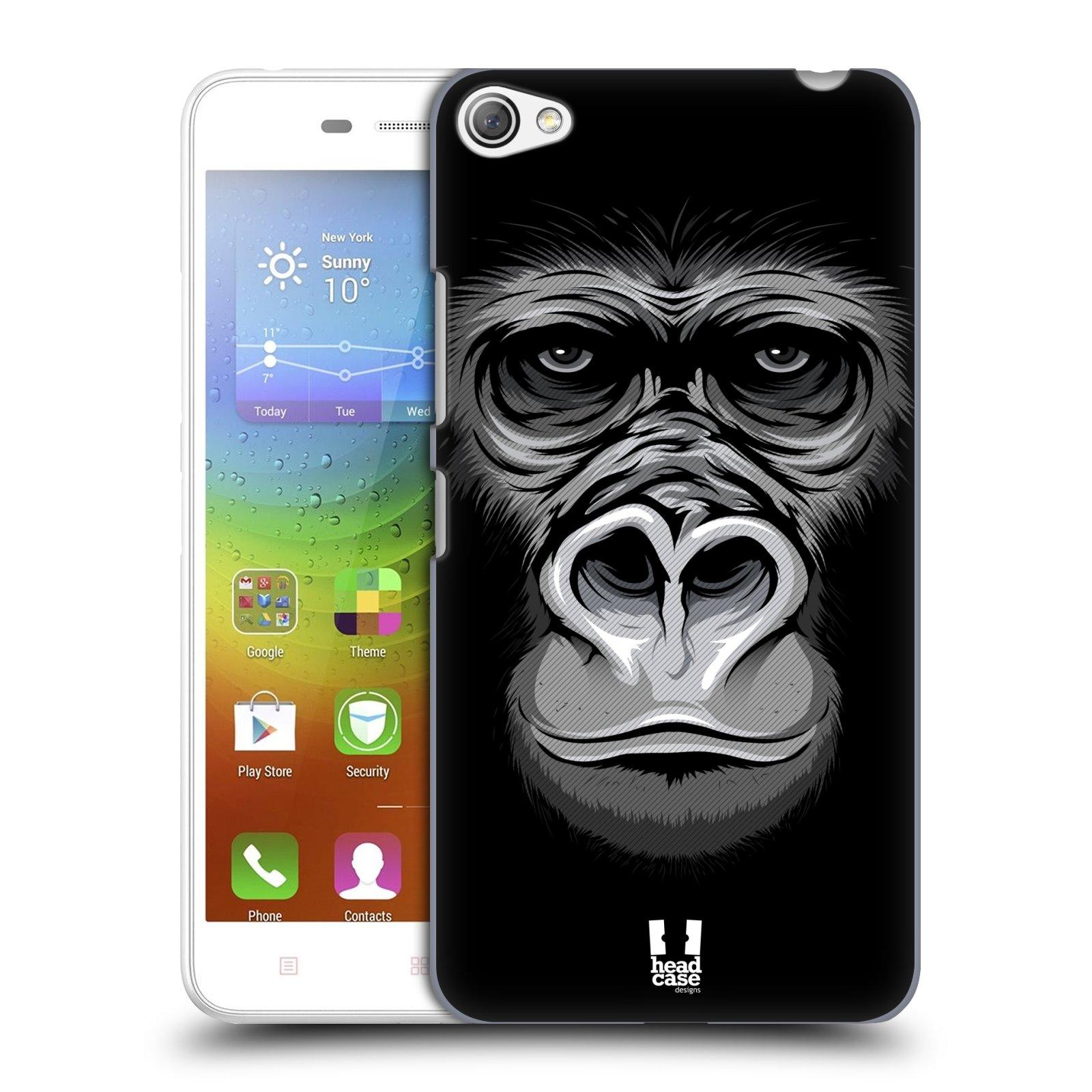 HEAD CASE pevný plastový obal na mobil LENOVO S60 / LENOVO S60 DUAL SIM vzor Zvíře kreslená tvář 2 gorila