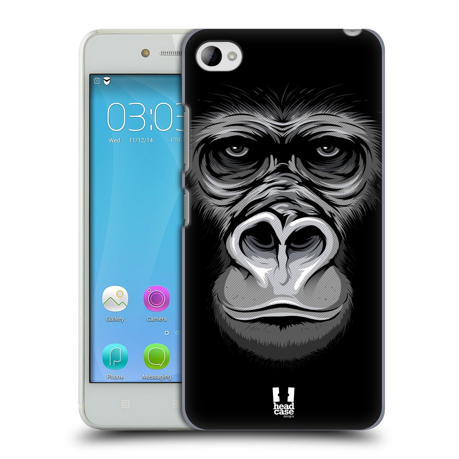 HEAD CASE pevný plastový obal na mobil LENOVO S90 vzor Zvíře kreslená tvář 2 gorila