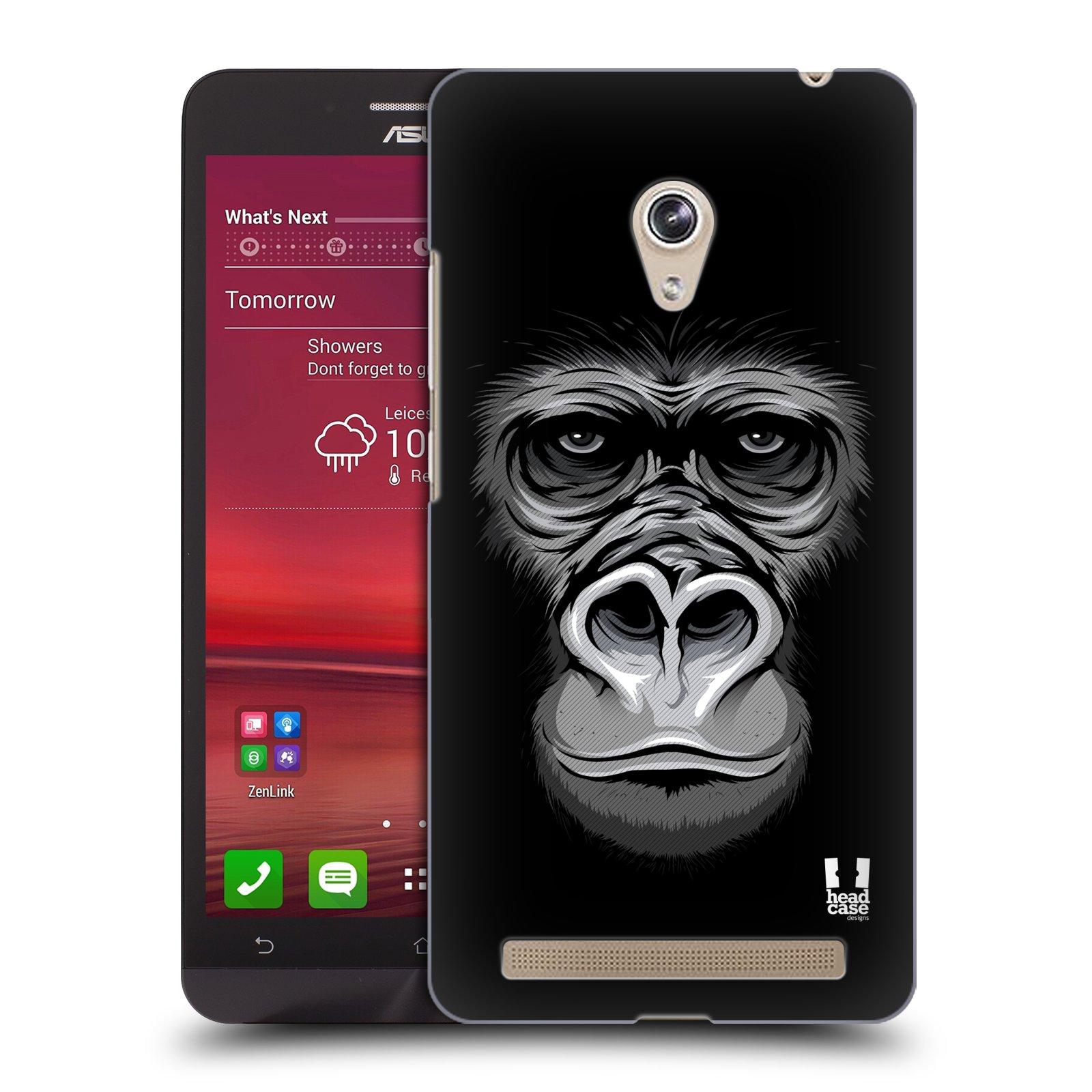 HEAD CASE plastový obal na mobil Asus Zenfone 6 vzor Zvíře kreslená tvář 2 gorila