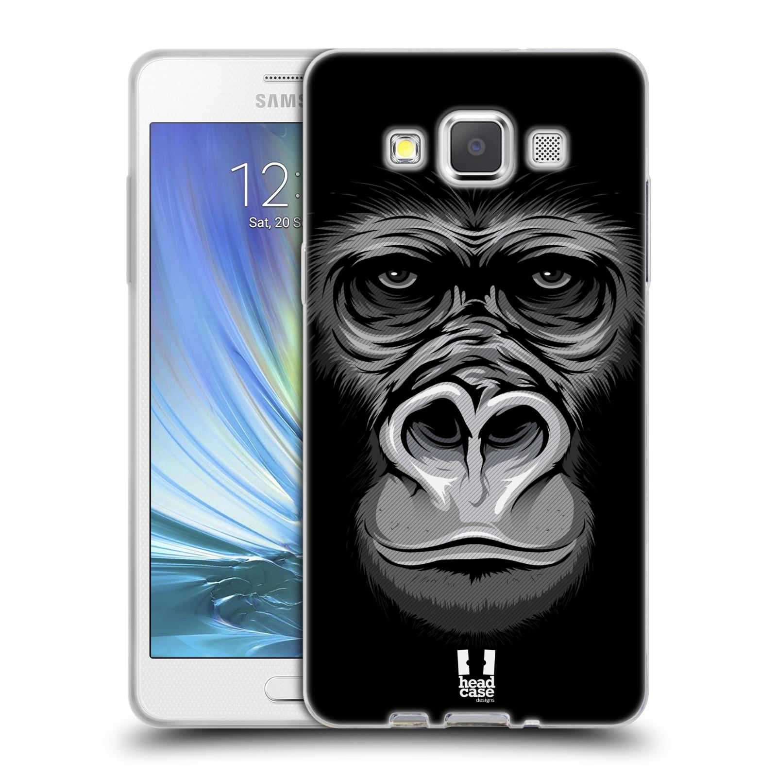 HEAD CASE silikonový obal na mobil Samsung Galaxy A5 vzor Zvíře kreslená tvář 2 gorila