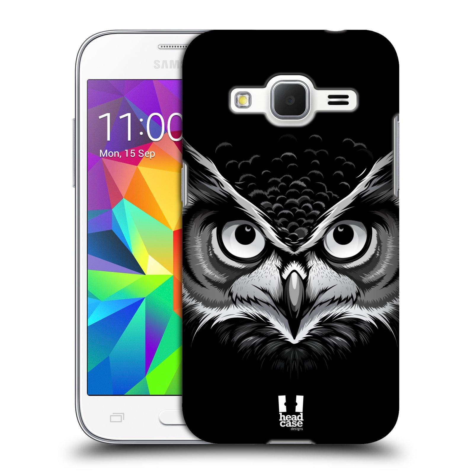HEAD CASE plastový obal na mobil SAMSUNG GALAXY Core Prime (Core Prime VE) vzor Zvíře kreslená tvář 2 sova