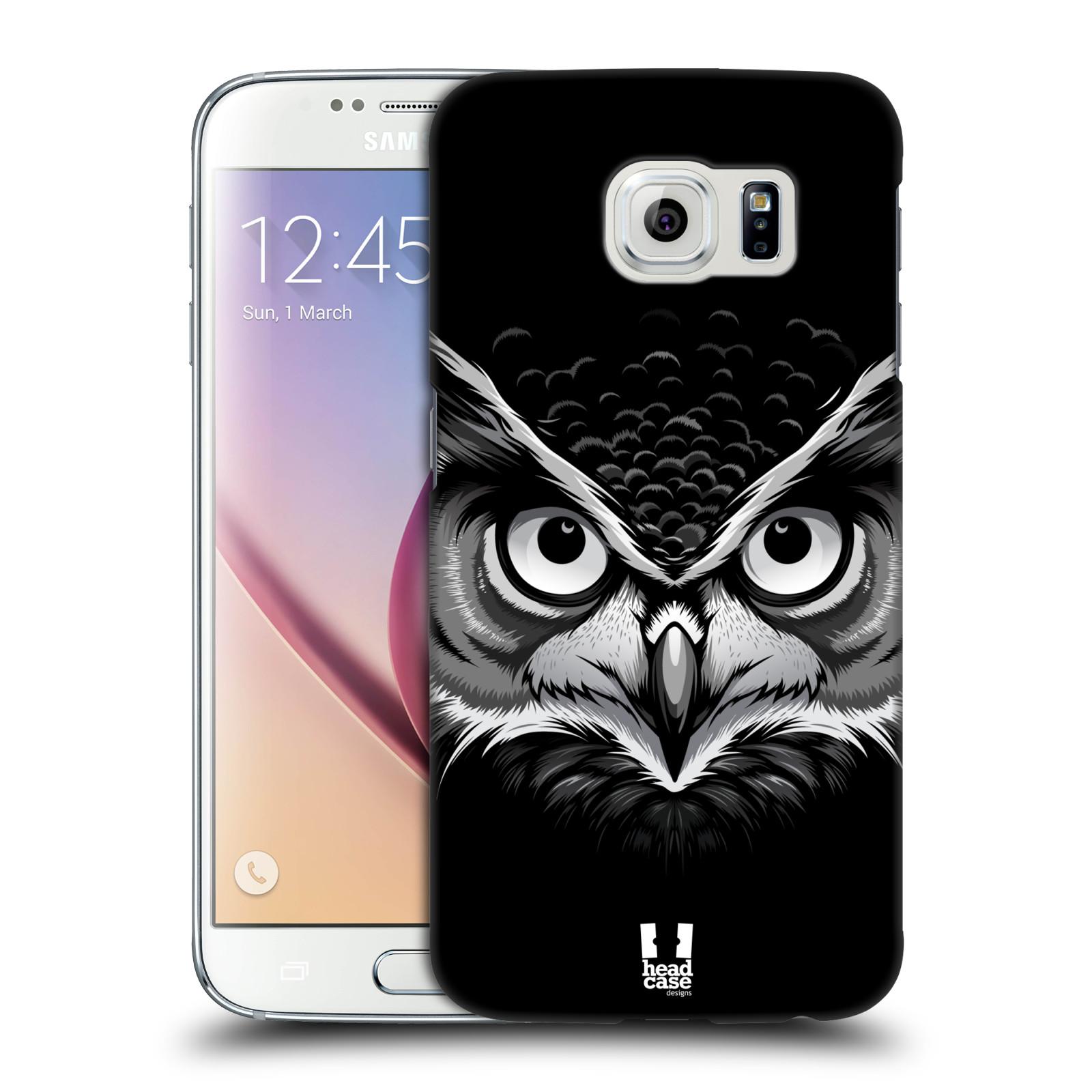 HEAD CASE plastový obal na mobil SAMSUNG Galaxy S6 (G9200, G920F) vzor Zvíře kreslená tvář 2 sova