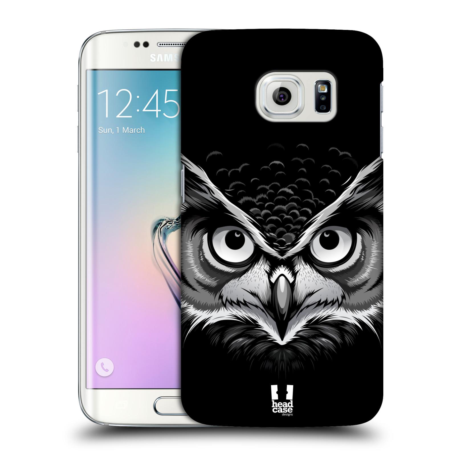 HEAD CASE plastový obal na mobil SAMSUNG Galaxy S6 EDGE (G9250, G925, G925F) vzor Zvíře kreslená tvář 2 sova