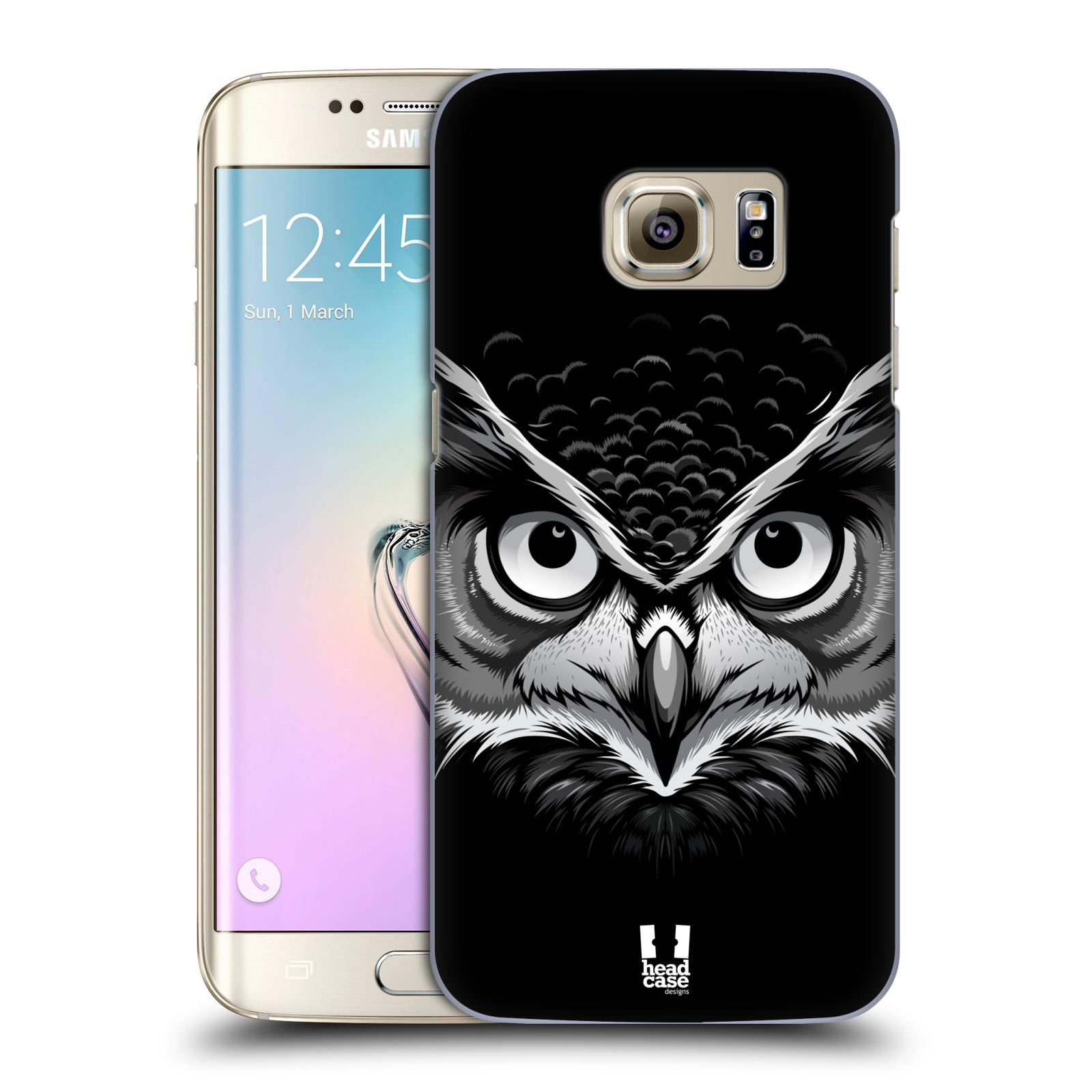 HEAD CASE plastový obal na mobil SAMSUNG GALAXY S7 EDGE vzor Zvíře kreslená tvář 2 sova
